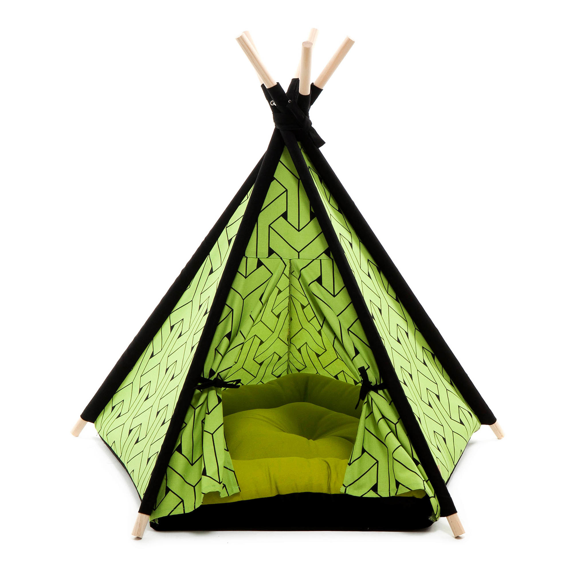 NEW-Green-Pet-Teepee-Tent