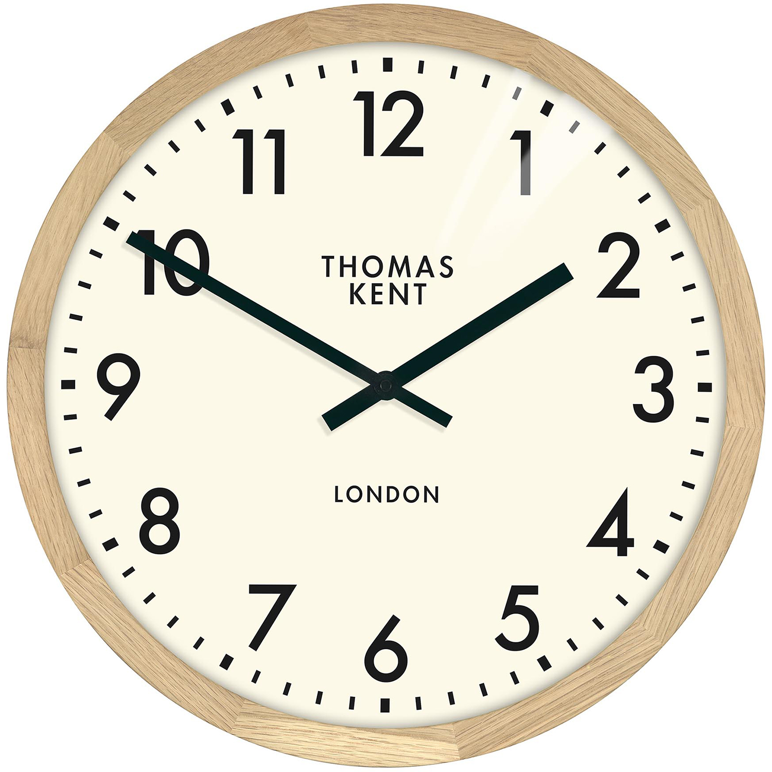 New Clifton Oak Wall Clock 46 Cm Thomas Kent Clocks Ebay