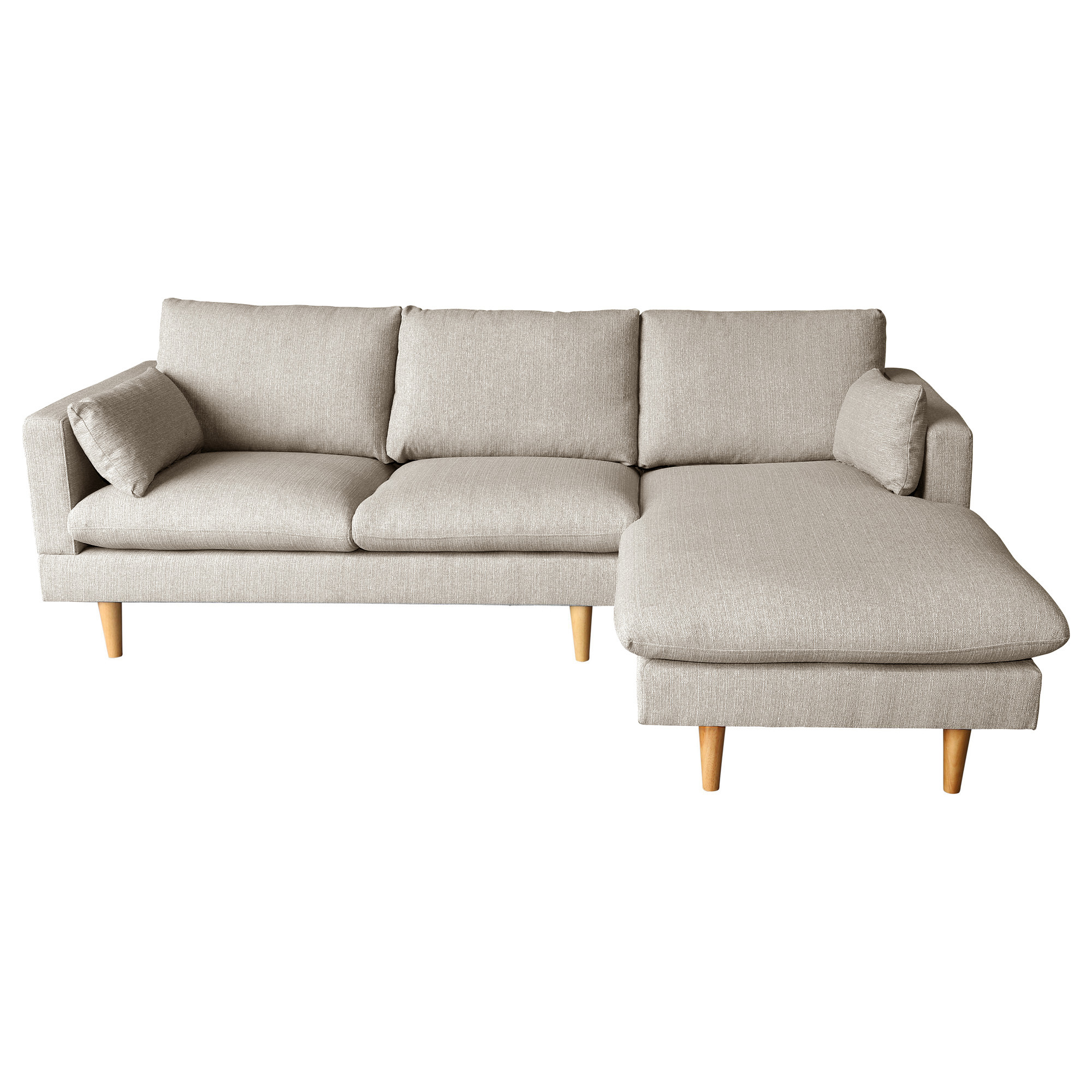 Silas Sand 2 Seater Sofa with Right Chaise