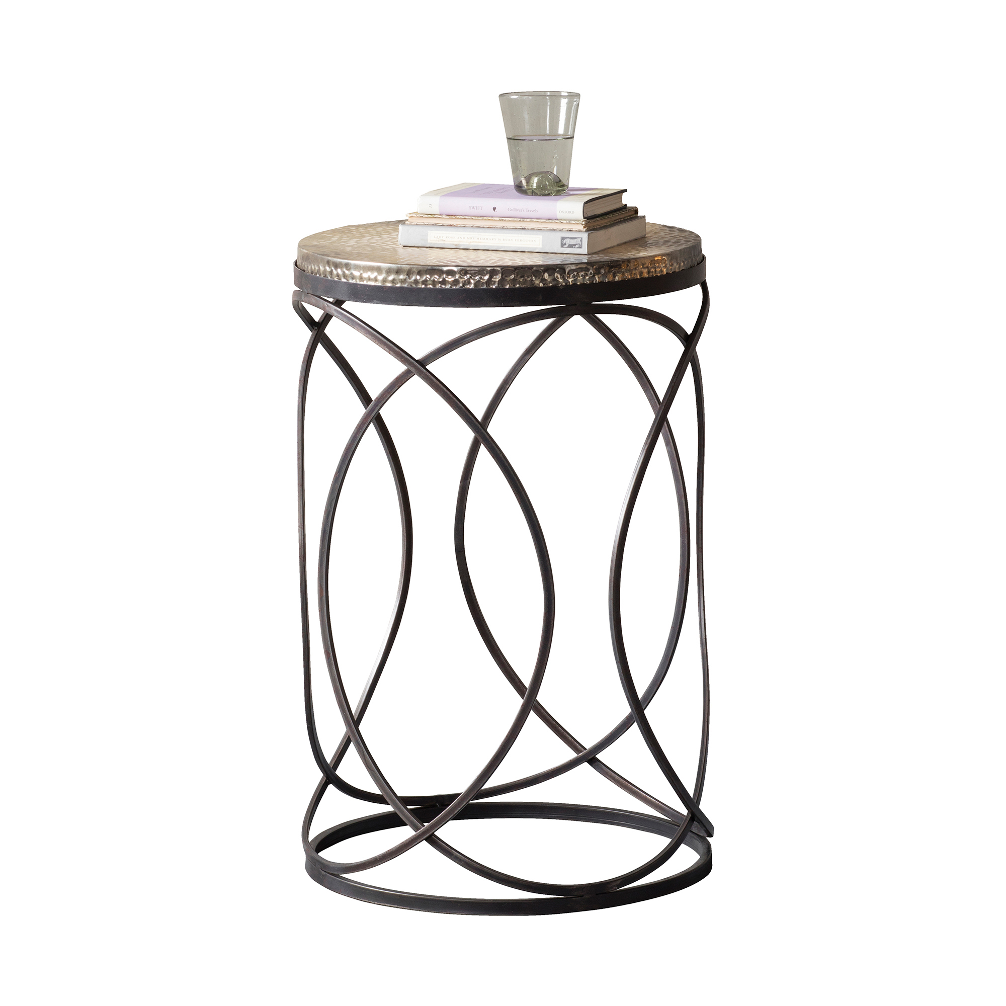 top wood shabby table itm metal aluminium cast round chic rough moroccan side sentinel jantar