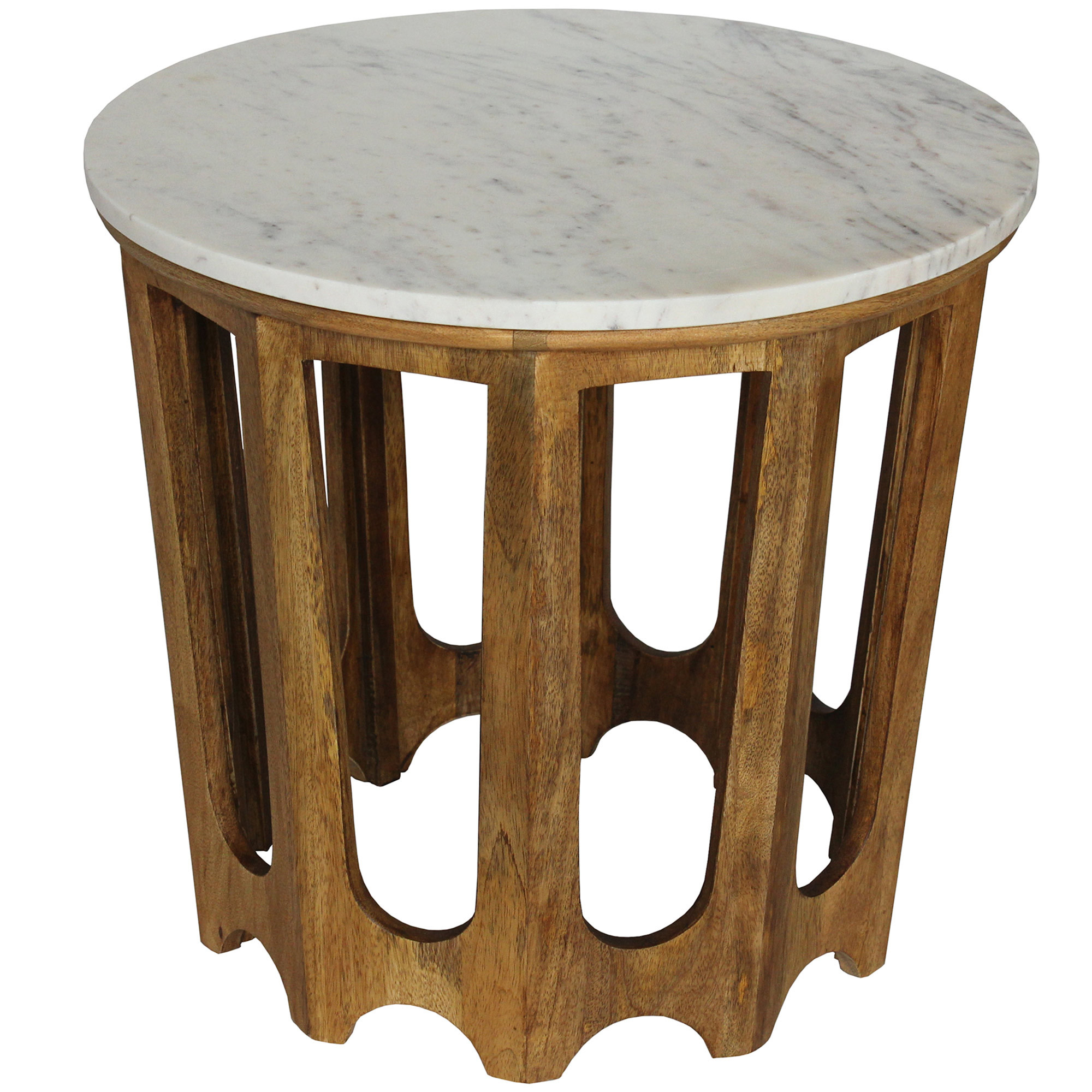 Light Walnut Cancun Marble Side Table Temple Webster # Muebles Dipay Cancun