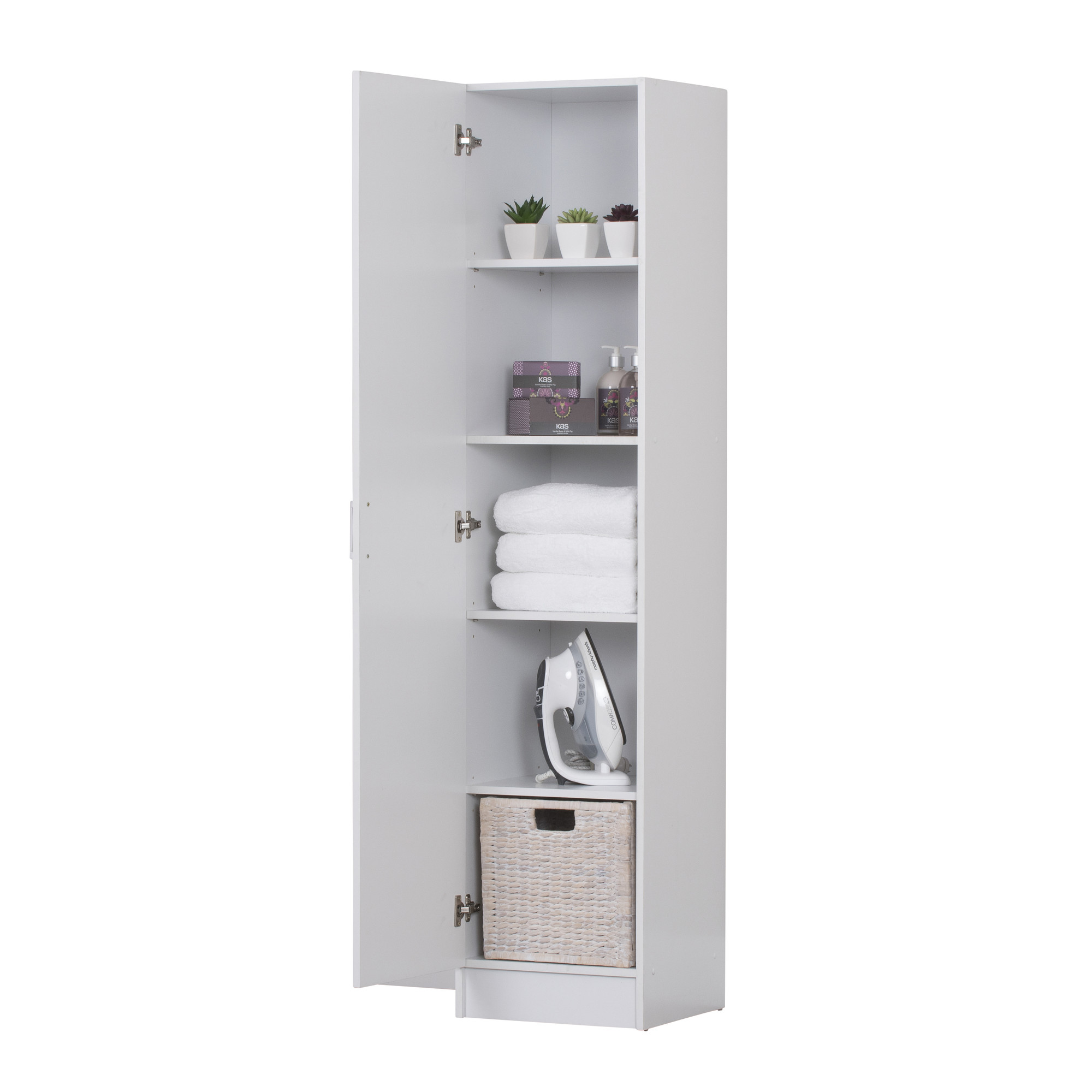 New White Multi Purpose Single Door Cupboard In Home