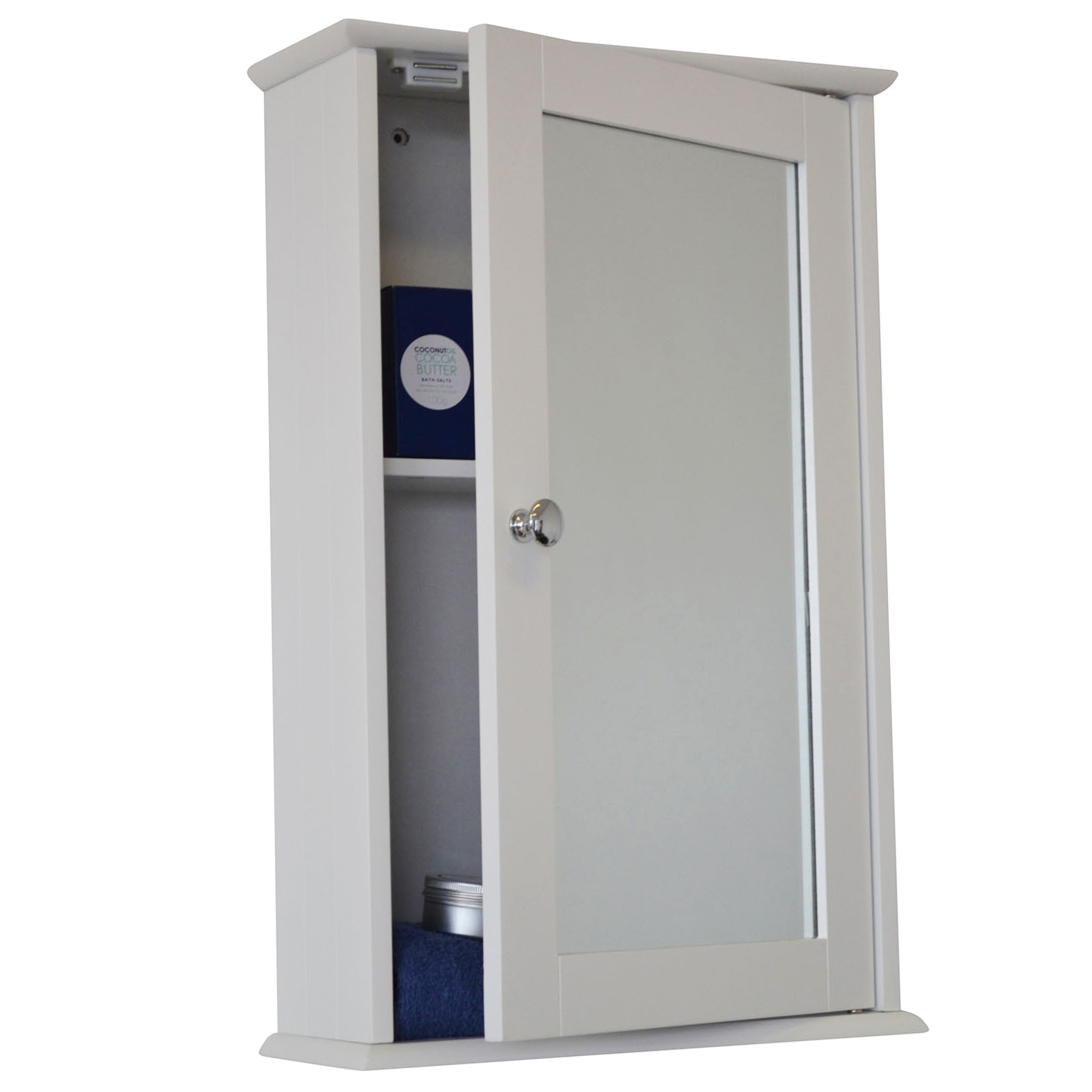 New odessa mirrored single door bathroom cabinet ebay for Bathroom cabinets ebay australia