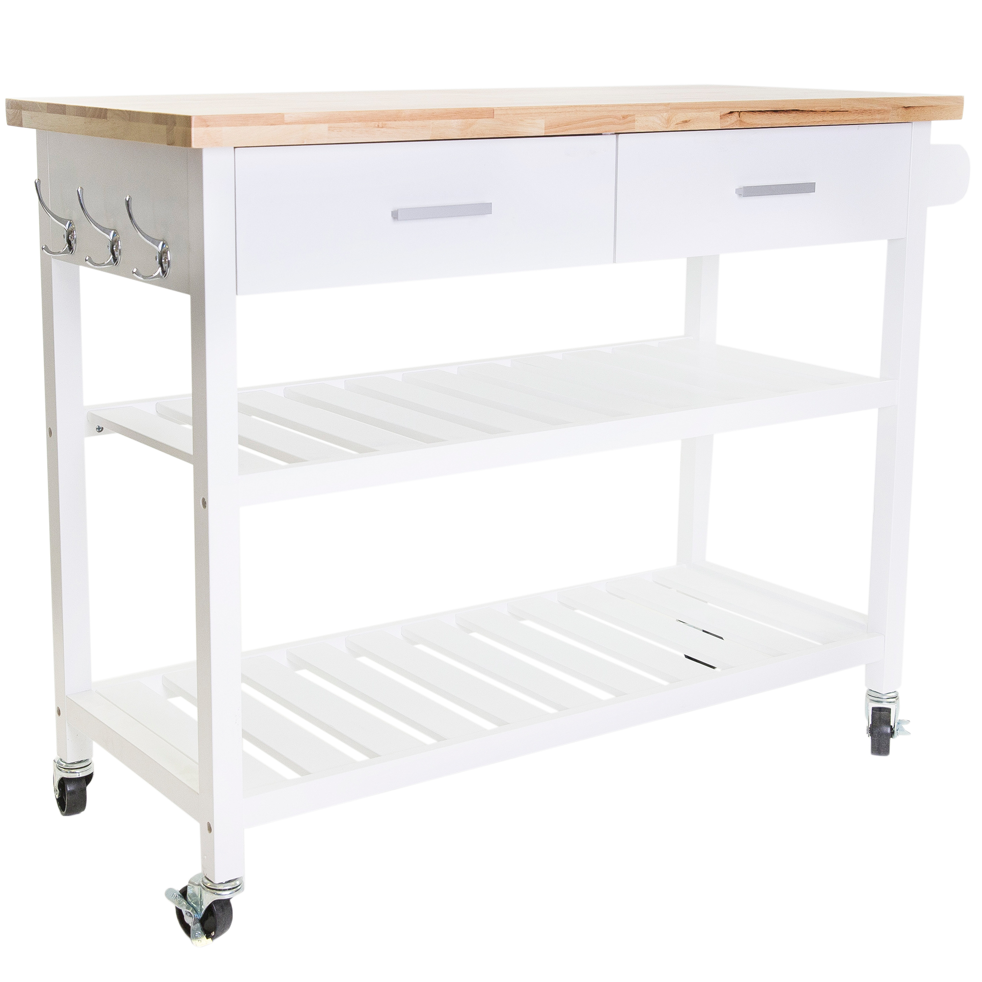 Picture of: In Home Furniture Style Kitchen Island Cart With Open Shelves Reviews Temple Webster