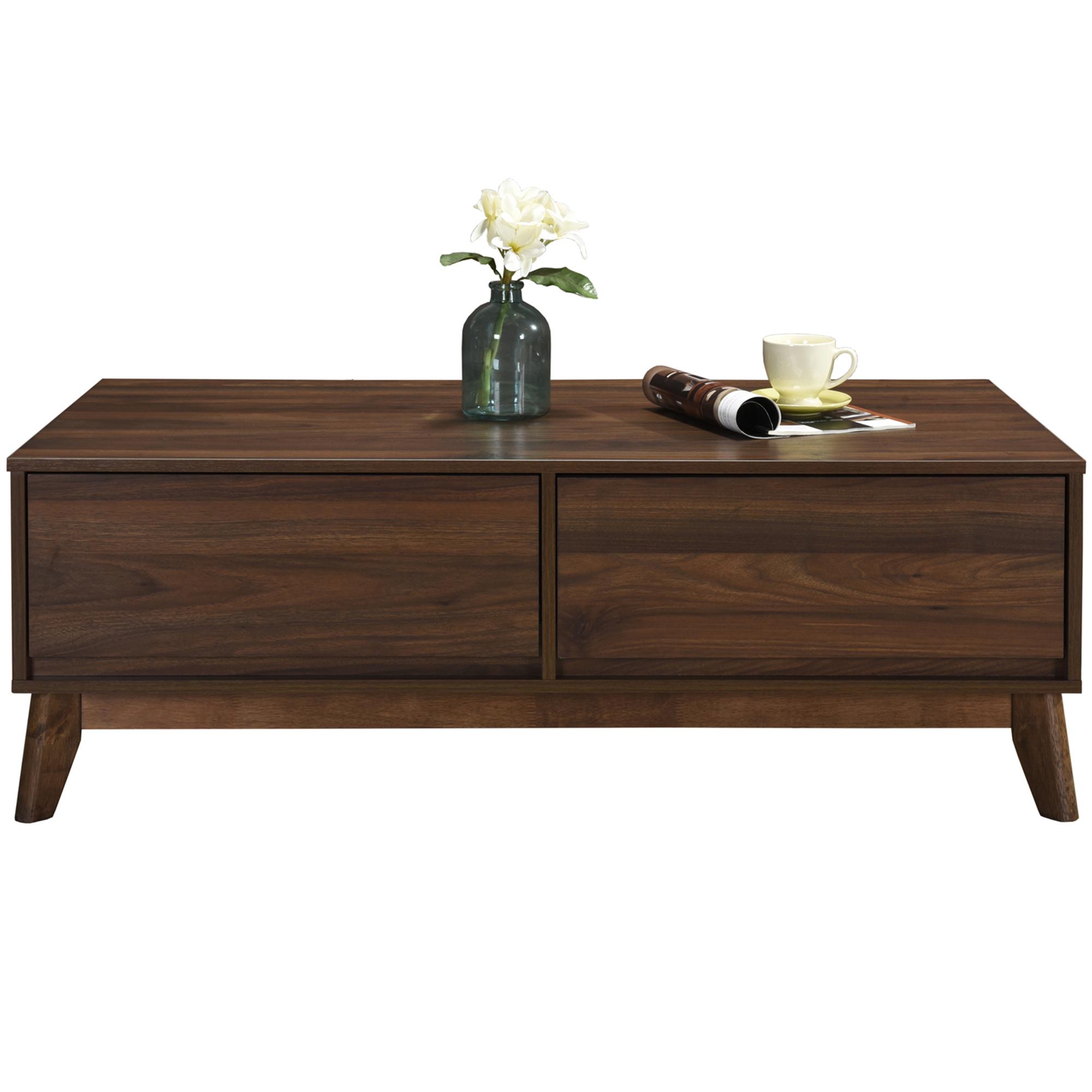 Rubberwood Coffee Table.Walnut Anderson Coffee Table