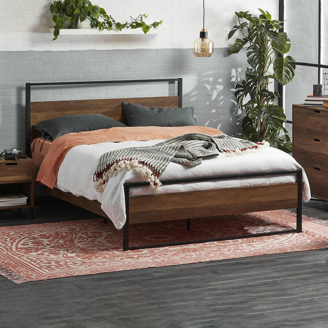 Kodu Industrial Austin Queen Bed Frame Temple Webster