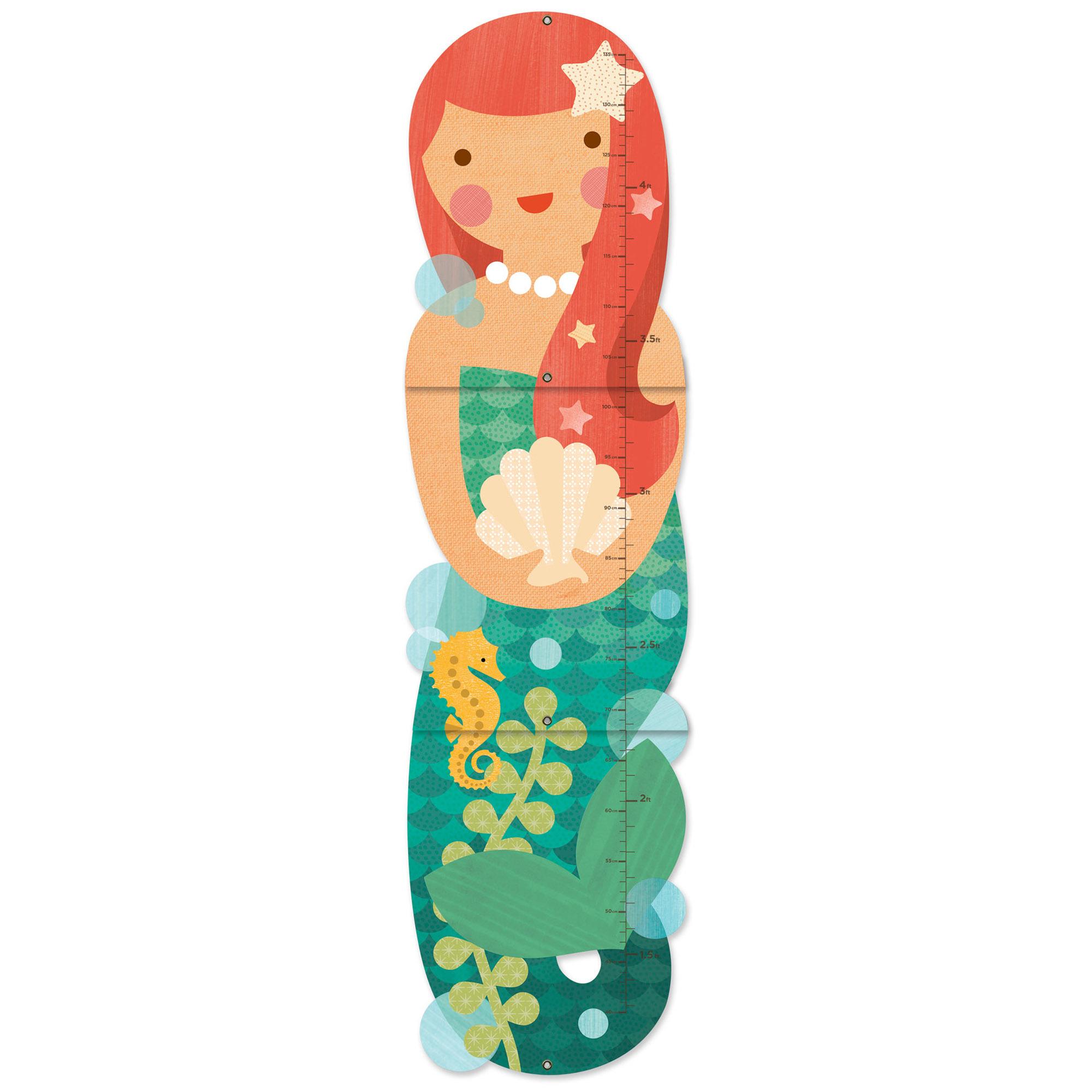 Little Miss Mermaid Print Folding Growth Chart Temple Webster