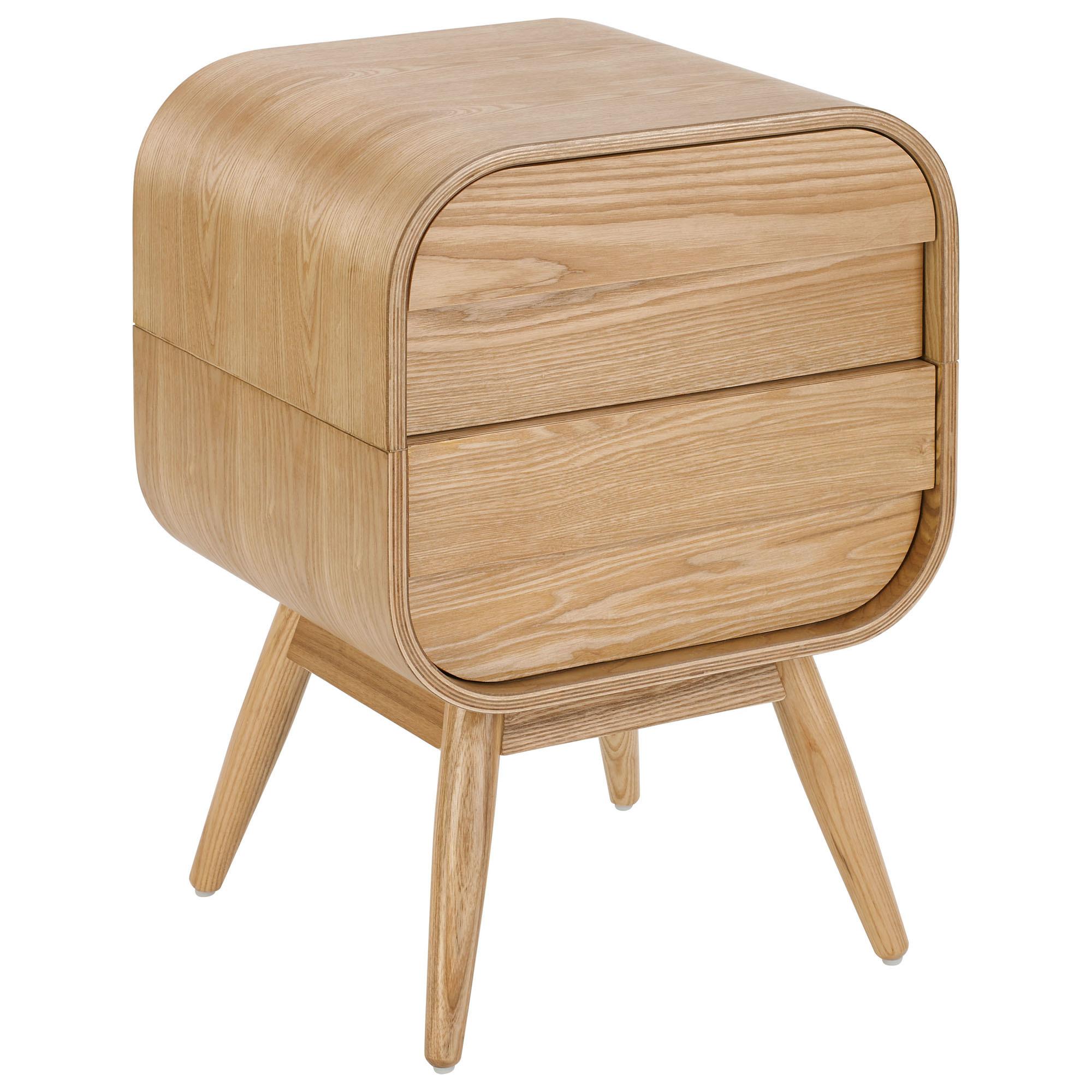 wholesale dealer 7fa2b 2663b Hugo Bedside Table 2 Drawer Scandinavian Style