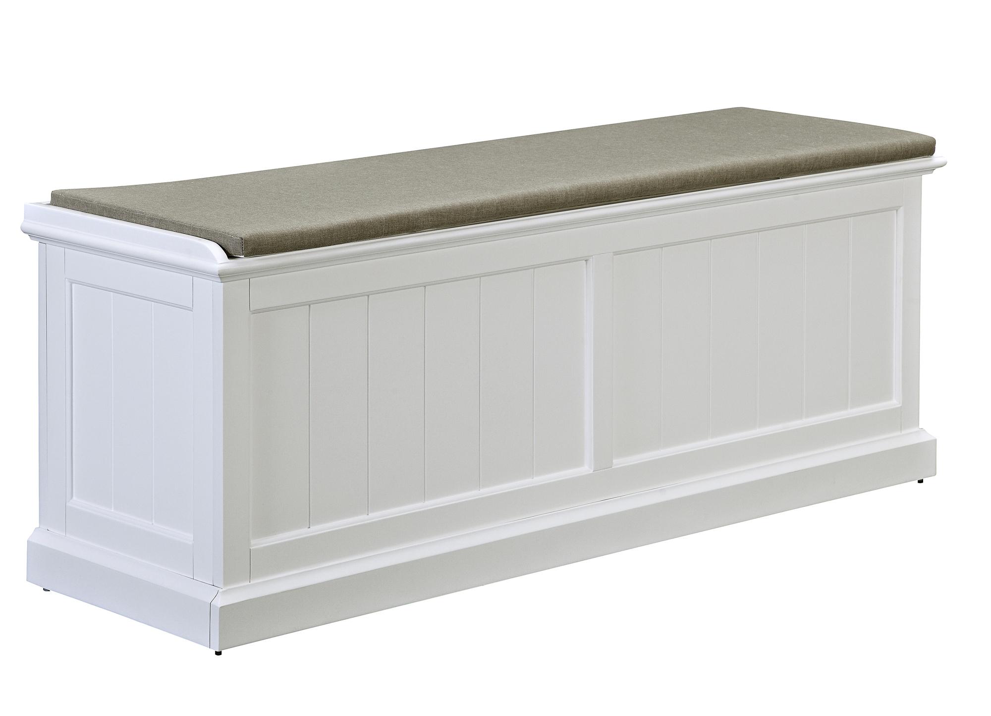 Hamptons Cushioned Storage Bench