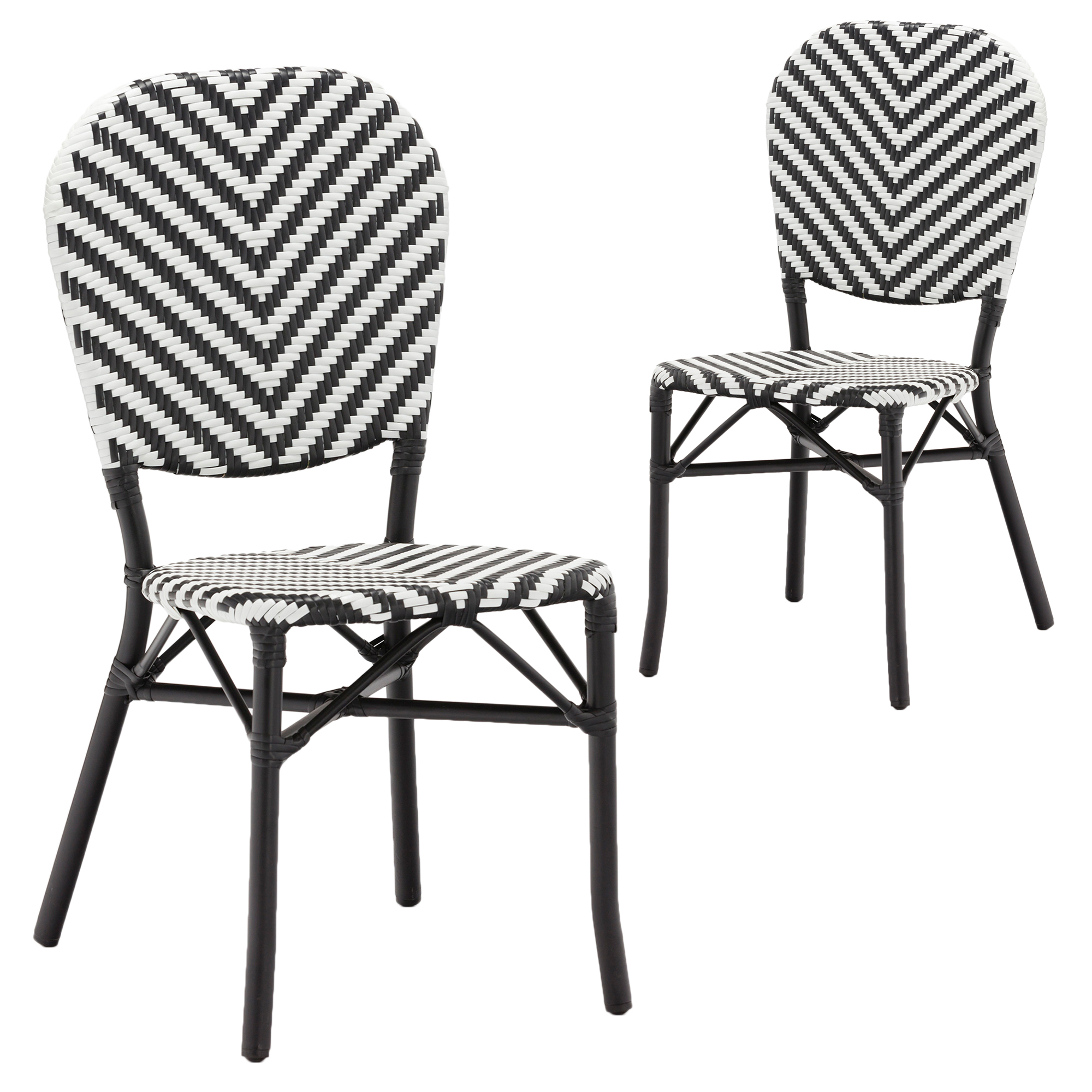 SKU #TPWT2719 Black Paris Faux Wicker Cafe Dining Chairs Is Also Sometimes  Listed Under The Following Manufacturer Numbers: BQPSDBWW