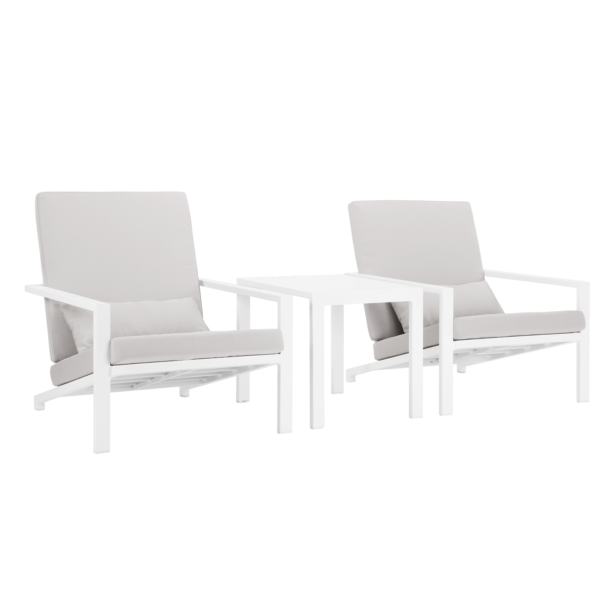 Grey Felix 2 Seater Outdoor Lounge Chair Table Set Temple Webster