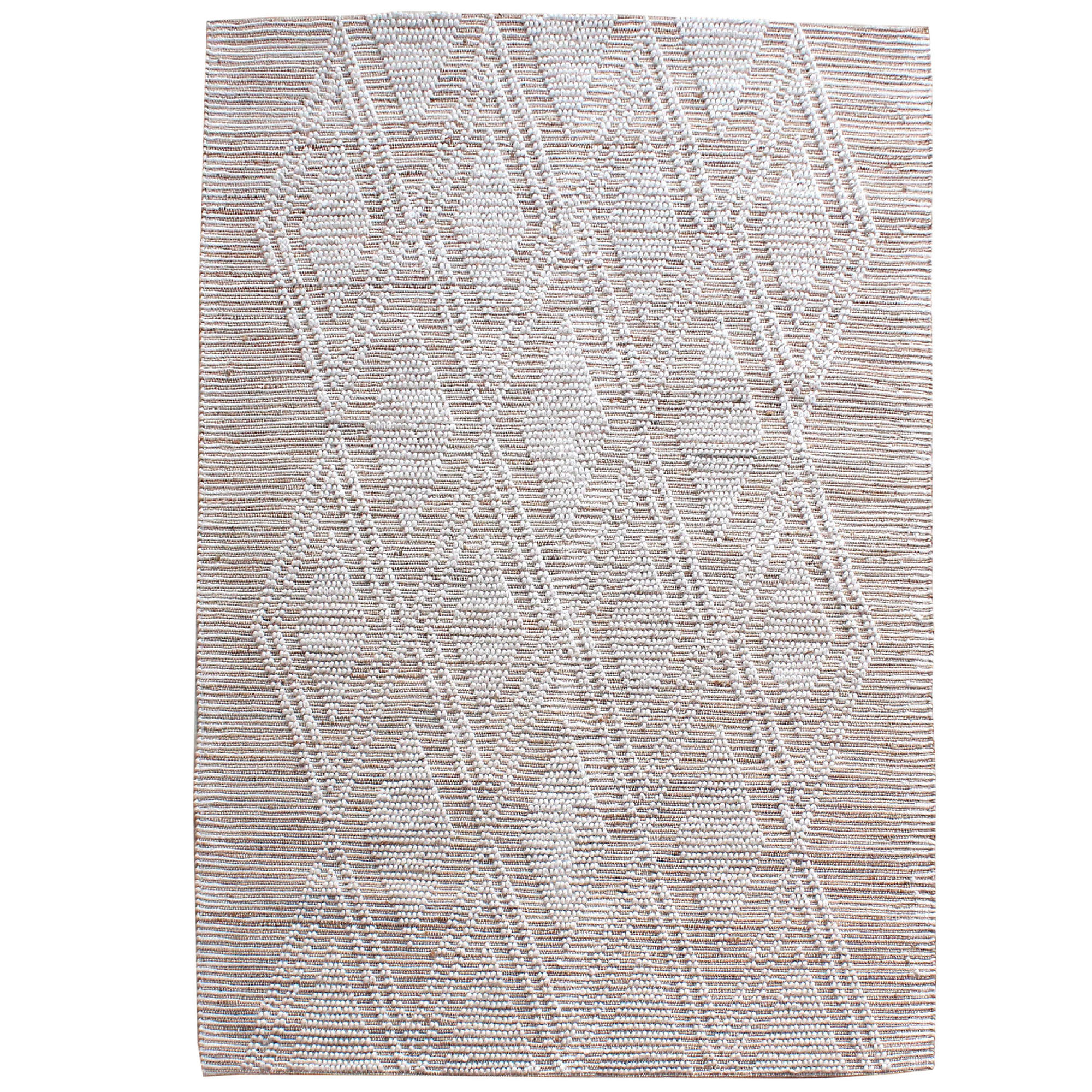 Temple Webster Sol Hand Woven Hemp Wool Rug