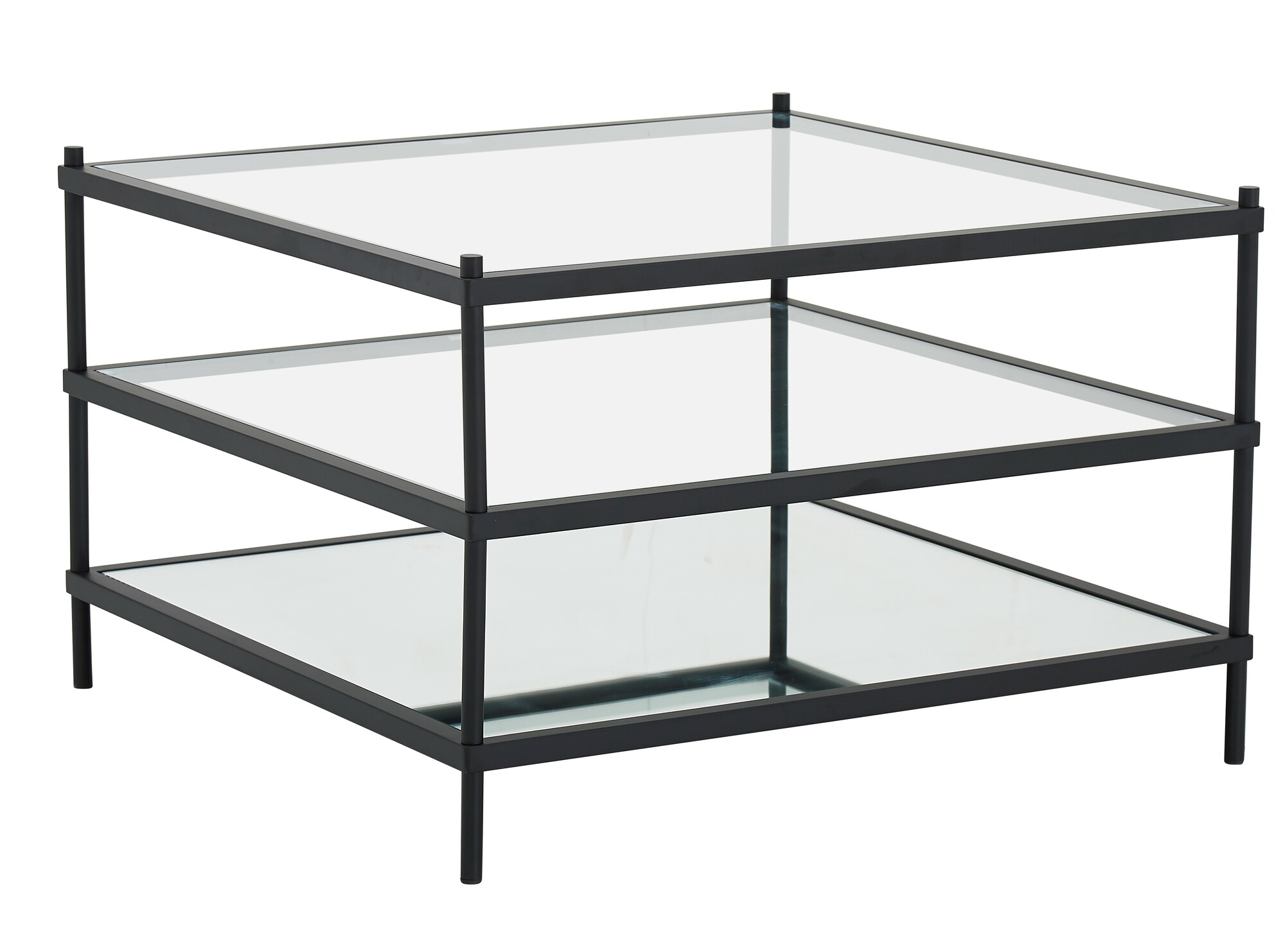 Temple Webster Black Square Francesca Glass Coffee Table Reviews