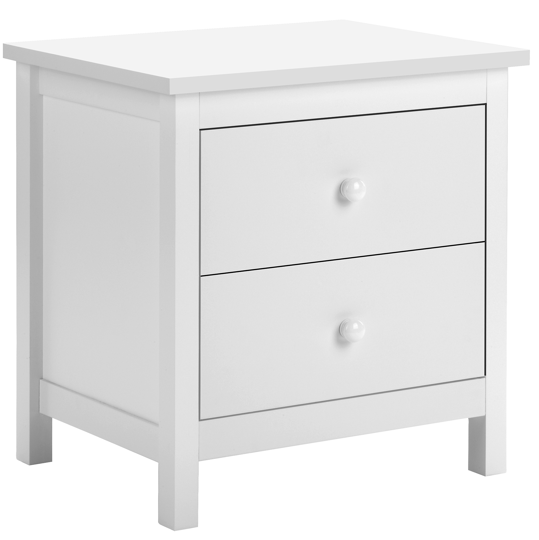 Picture of: Temple Webster White Noosa 2 Drawer Bedside Table Reviews