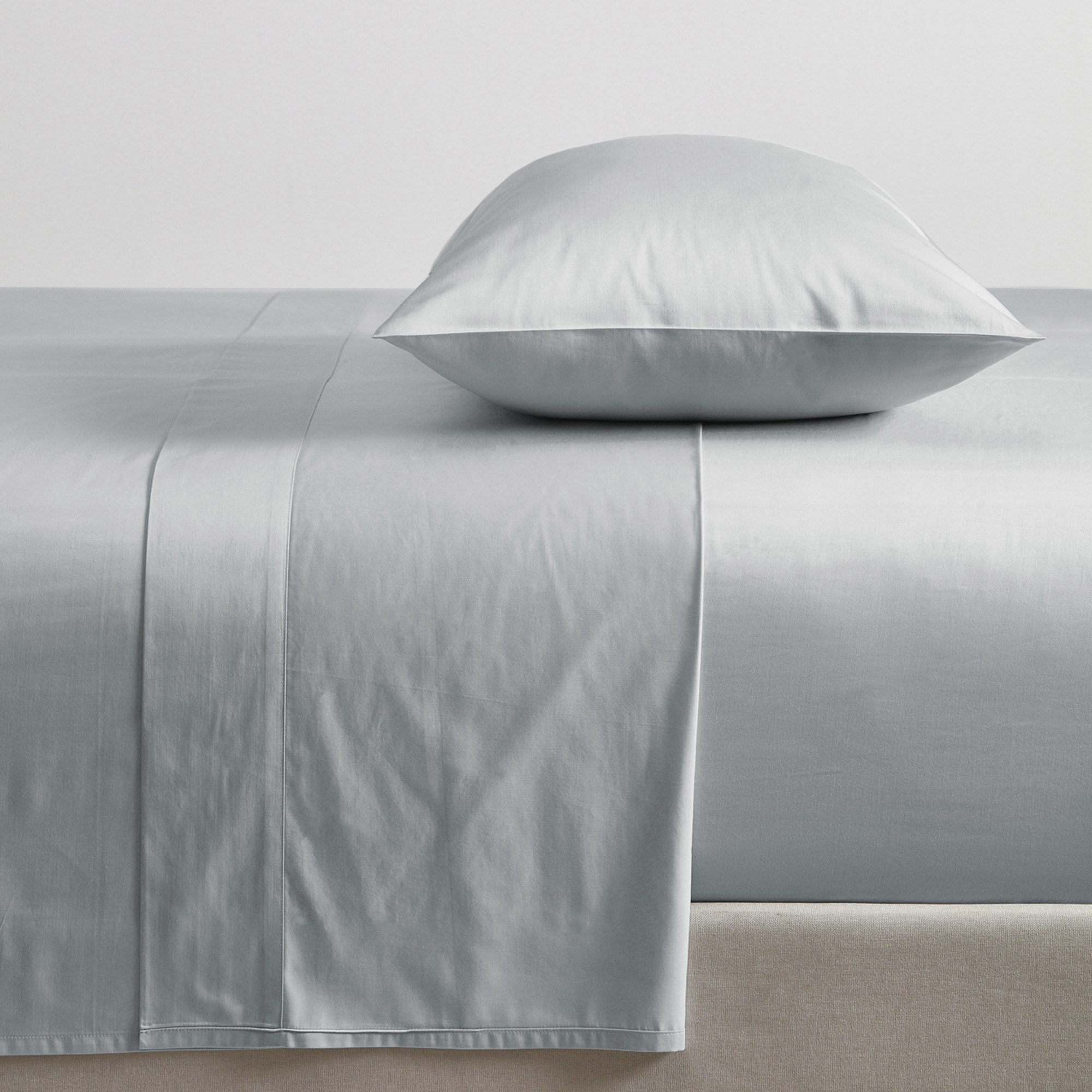 Temple Webster Light Grey Luxury 1000tc Cotton Rich Sheet Set