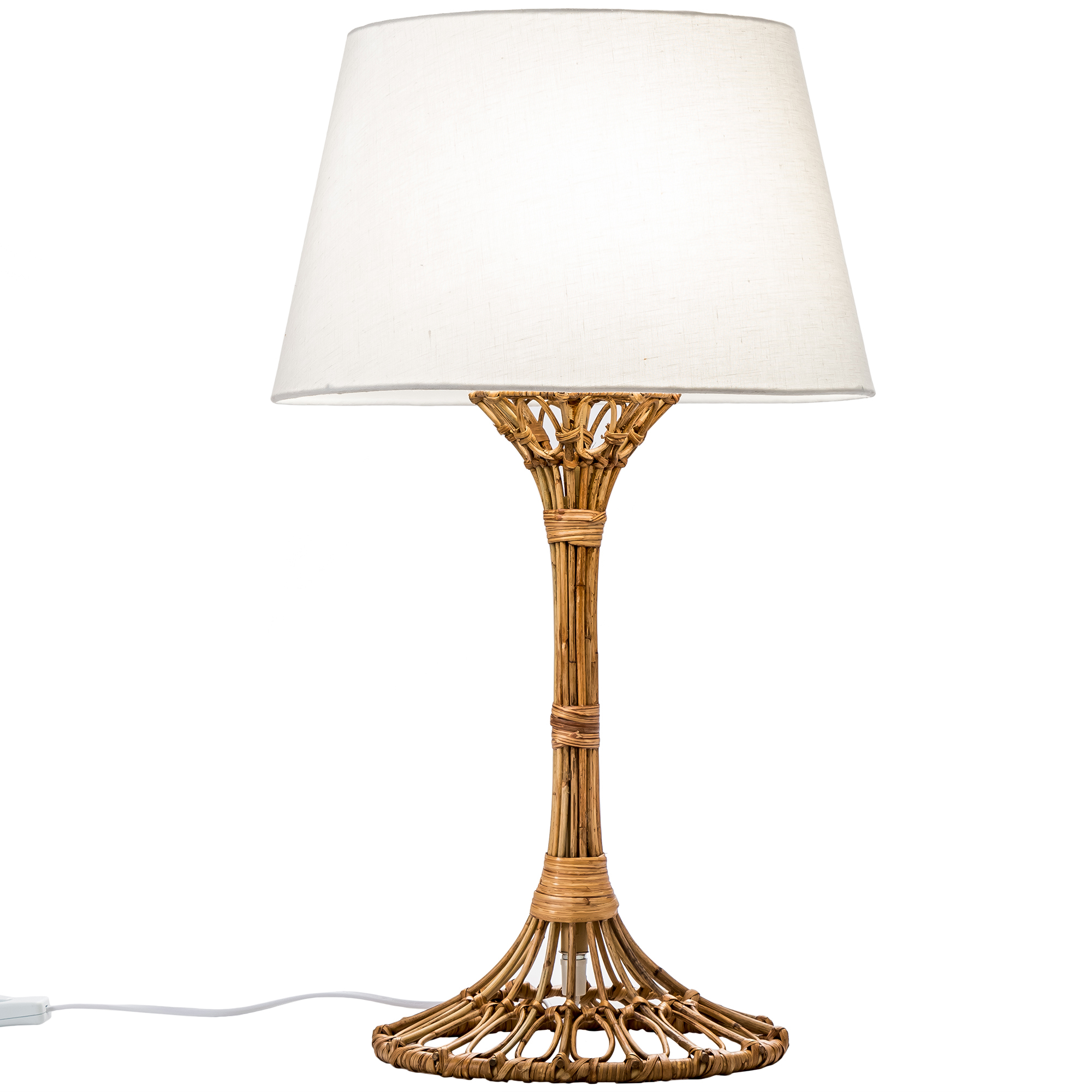 Temple Webster Natural Florence Rattan Table Lamp Reviews