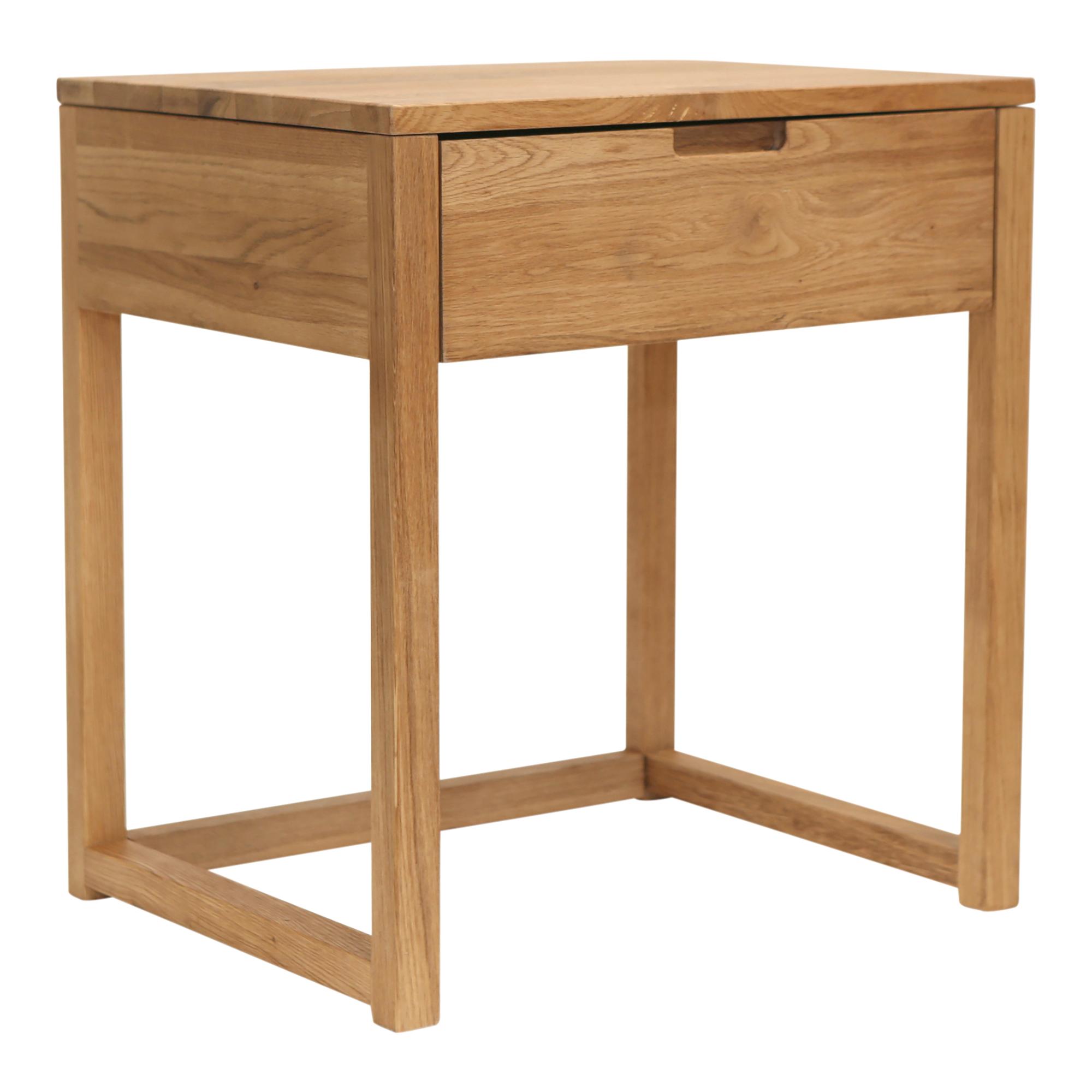 Temple Webster Olwen Solid Oak Timber Bedside Table