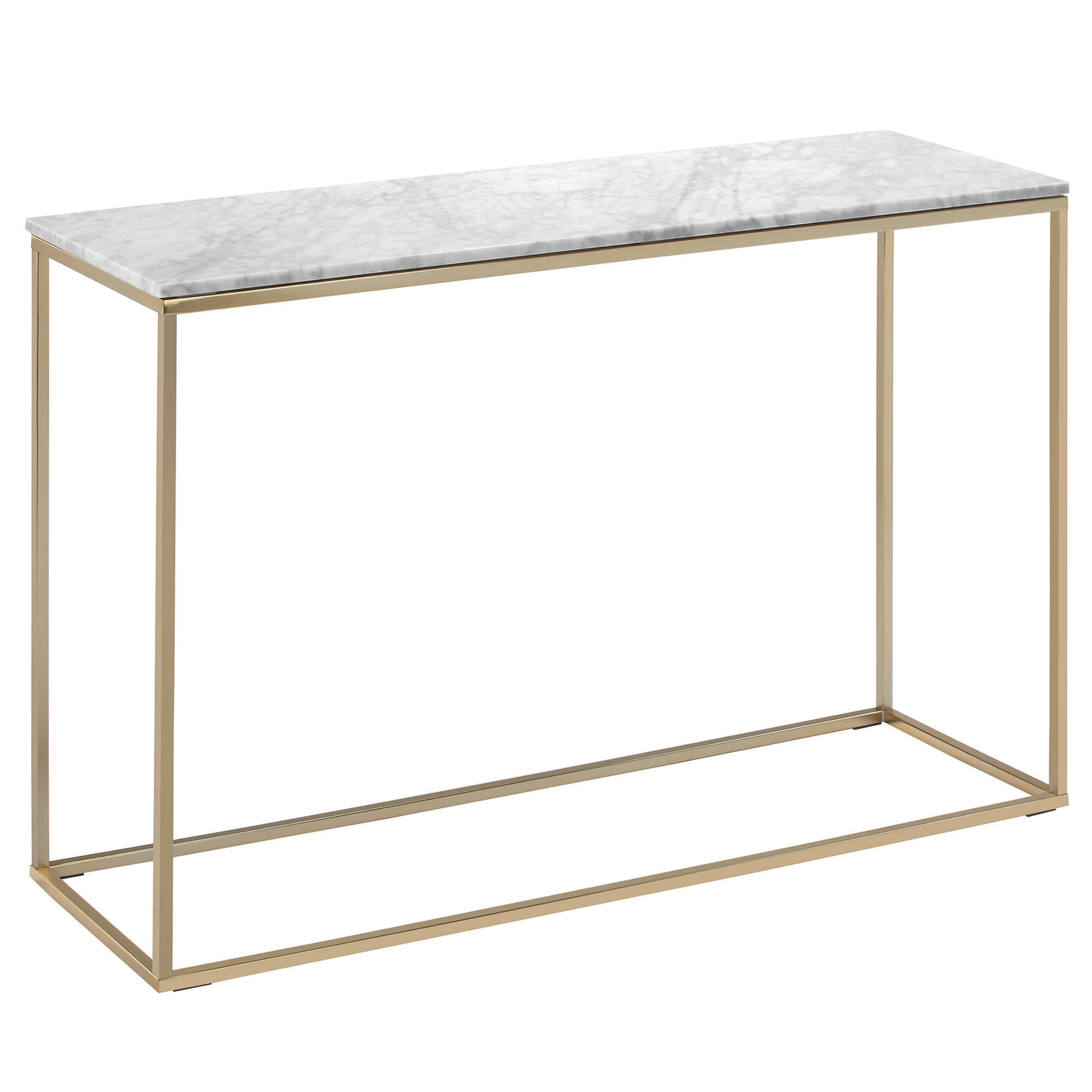 Temple Webster 110cm White Serena Italian Carrara Marble Console Table Reviews