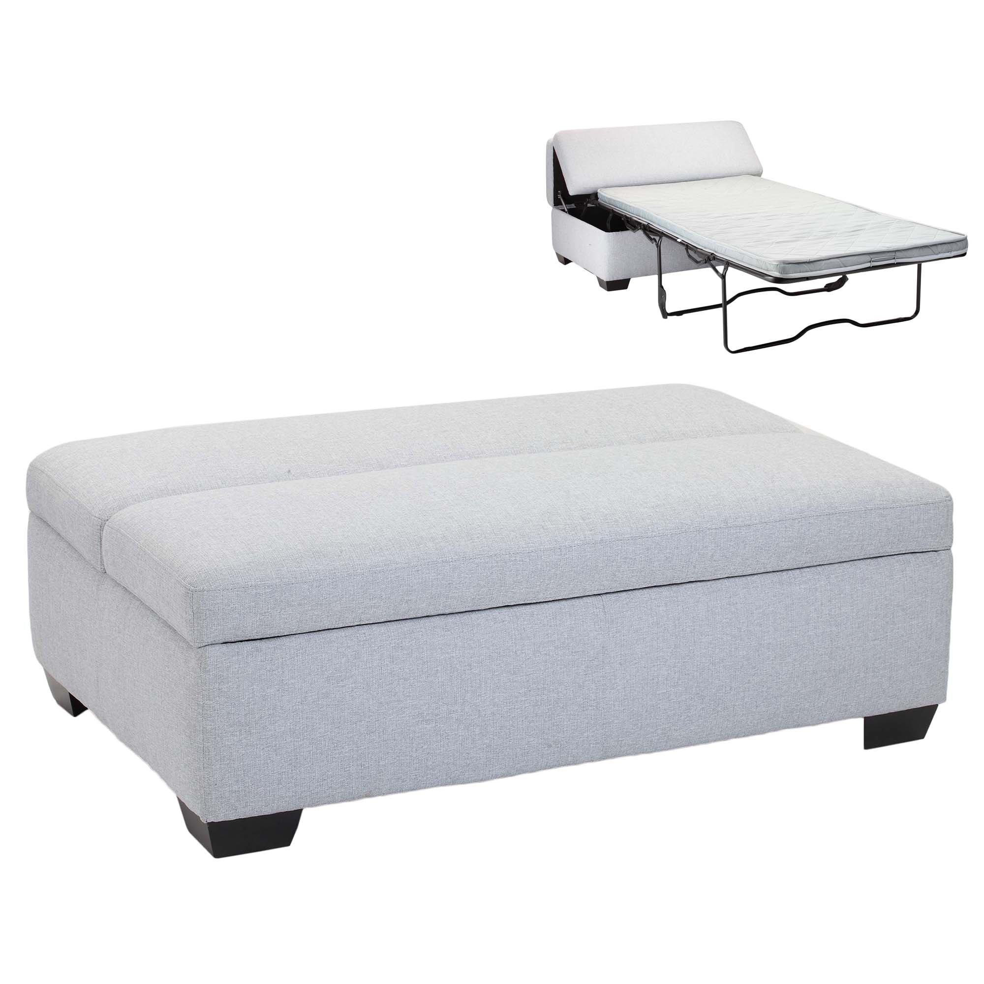 Picture of: Temple Webster Sleepy Convertible Ottoman Sofa Bed Reviews