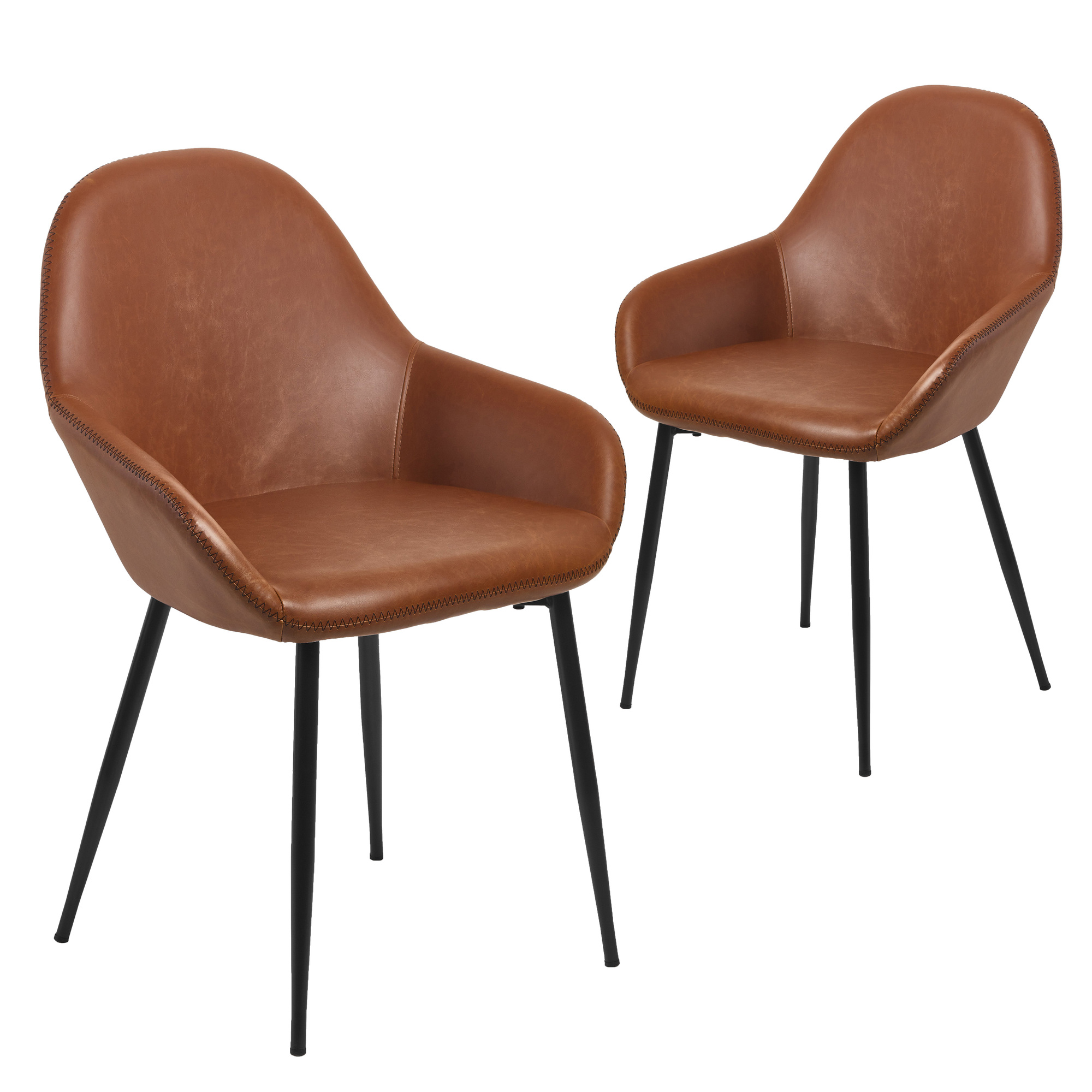 Tan Frankie Faux Leather Dining Chairs Set of 20