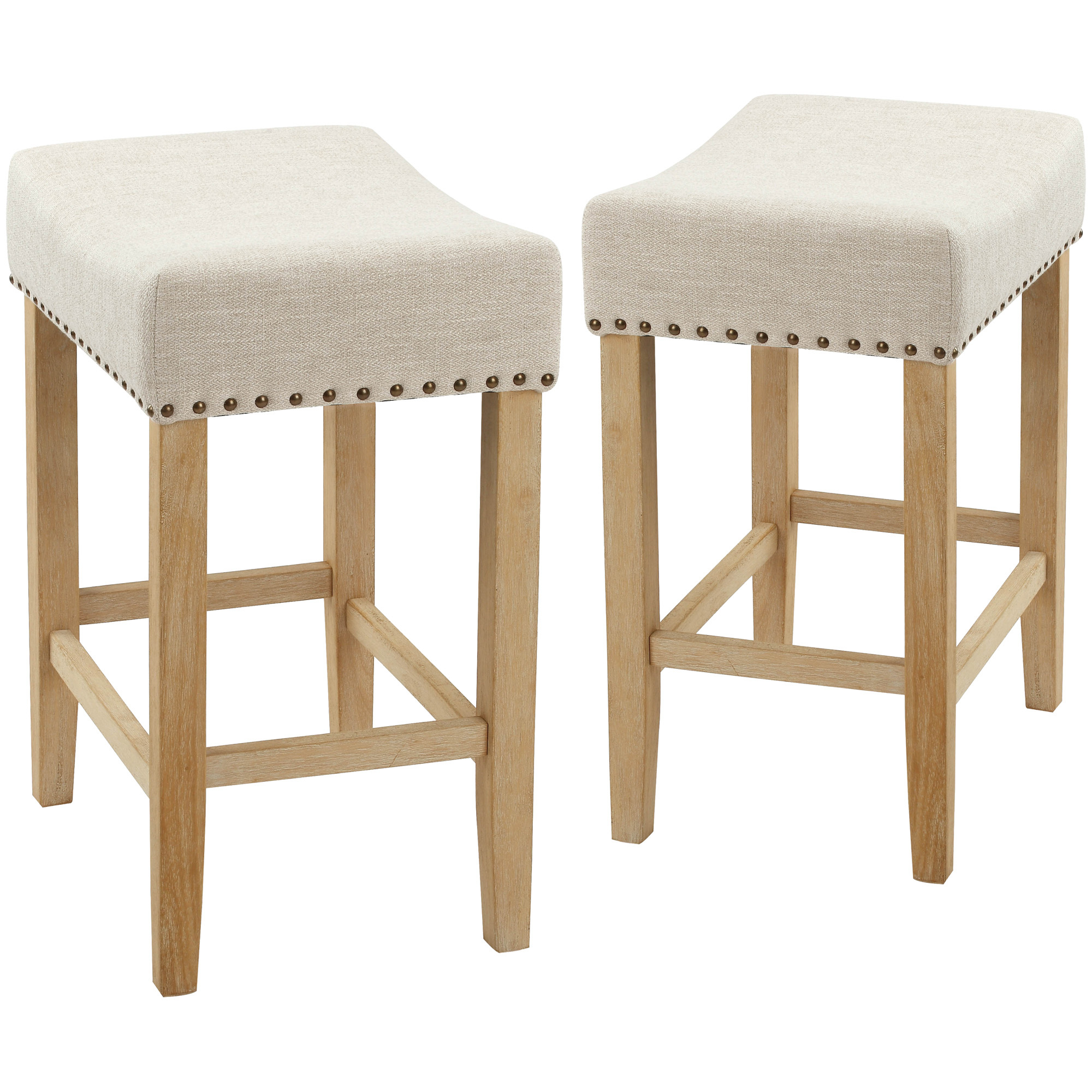 Image of: Temple Webster 64cm Nailhead Backless Counter Stools Reviews