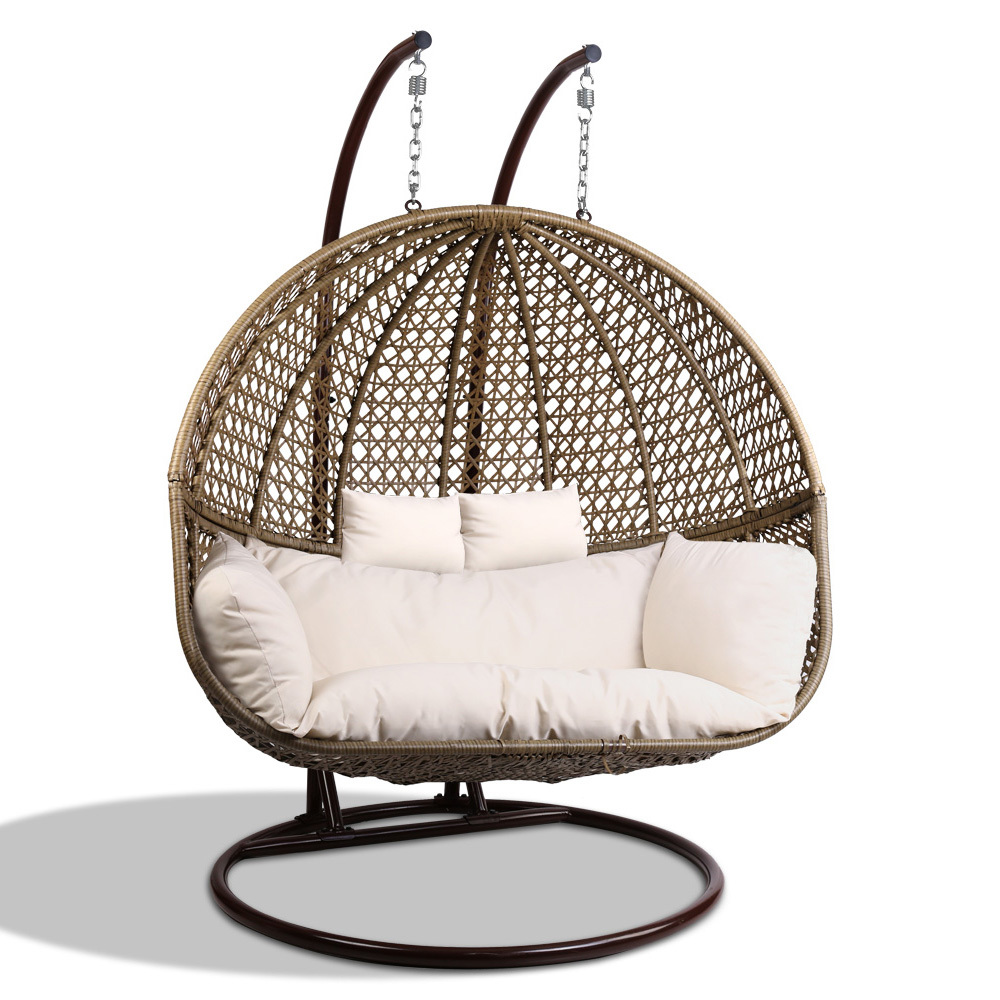 Fabulous Details About New Gardeon Outdoor Double Hanging Swing Chair Alphanode Cool Chair Designs And Ideas Alphanodeonline
