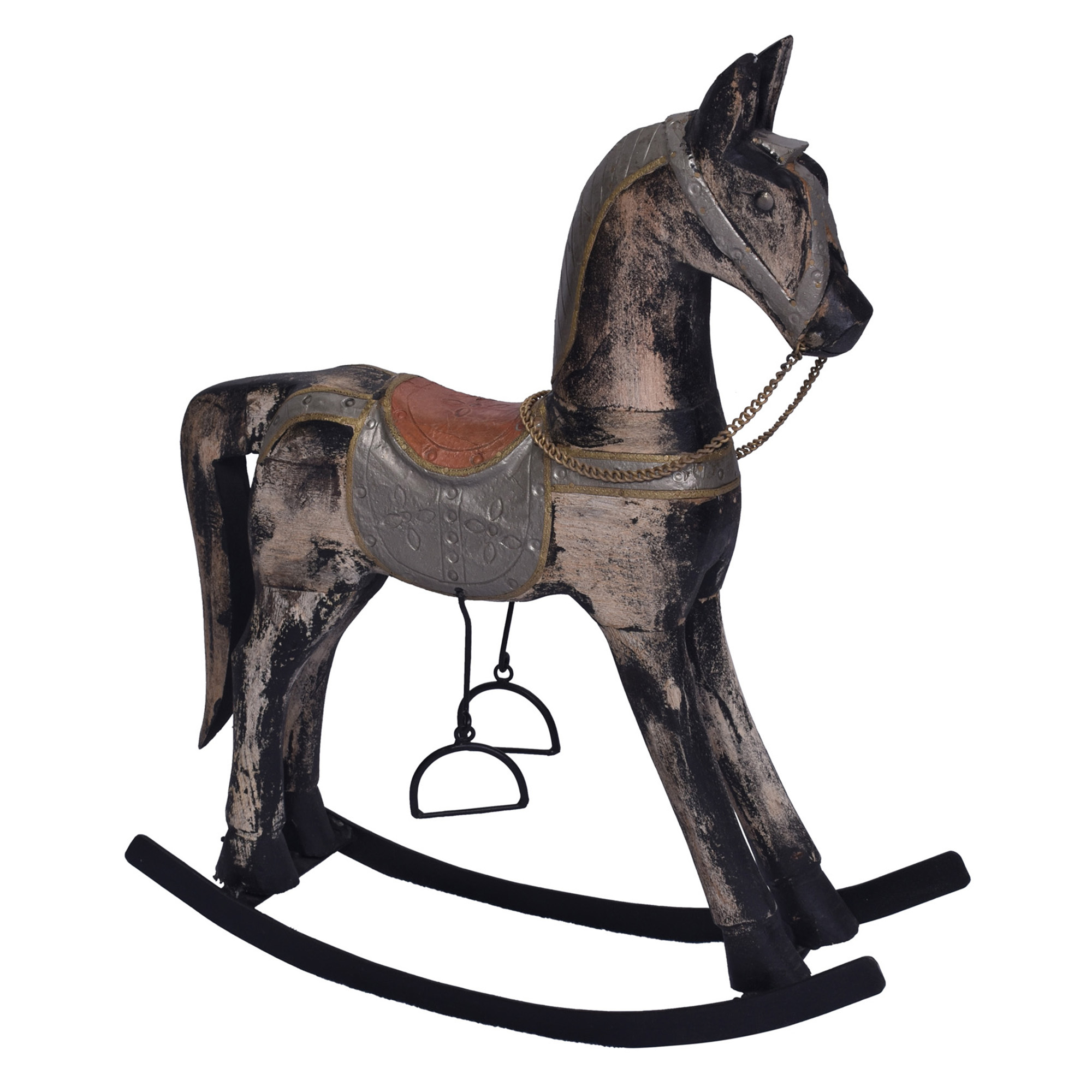 Chartwell Home Antique Brown Grey Astrid Rocking Horse Ornament Reviews Temple Webster