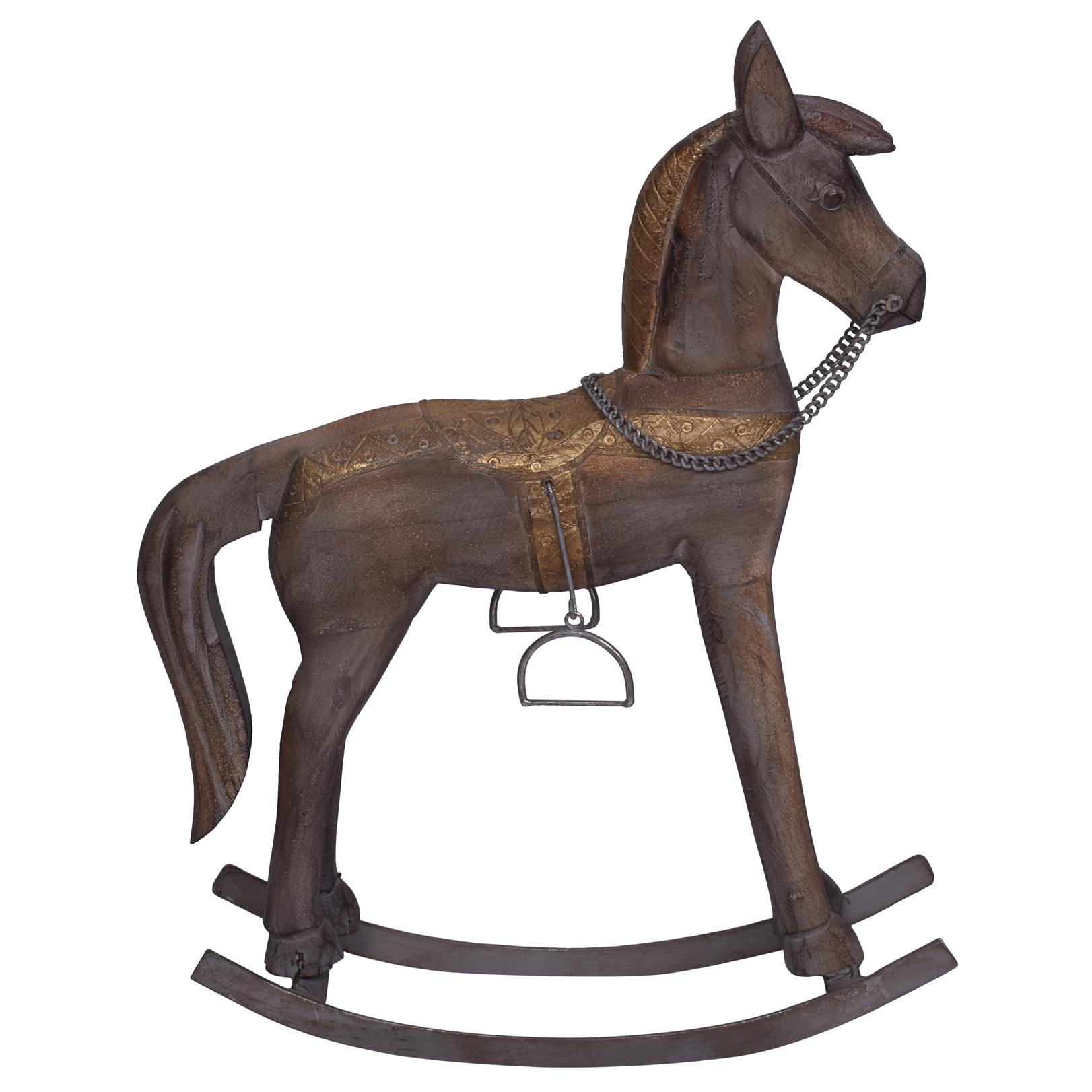 Antique Brown Astrid Rocking Horse Ornament Temple Webster