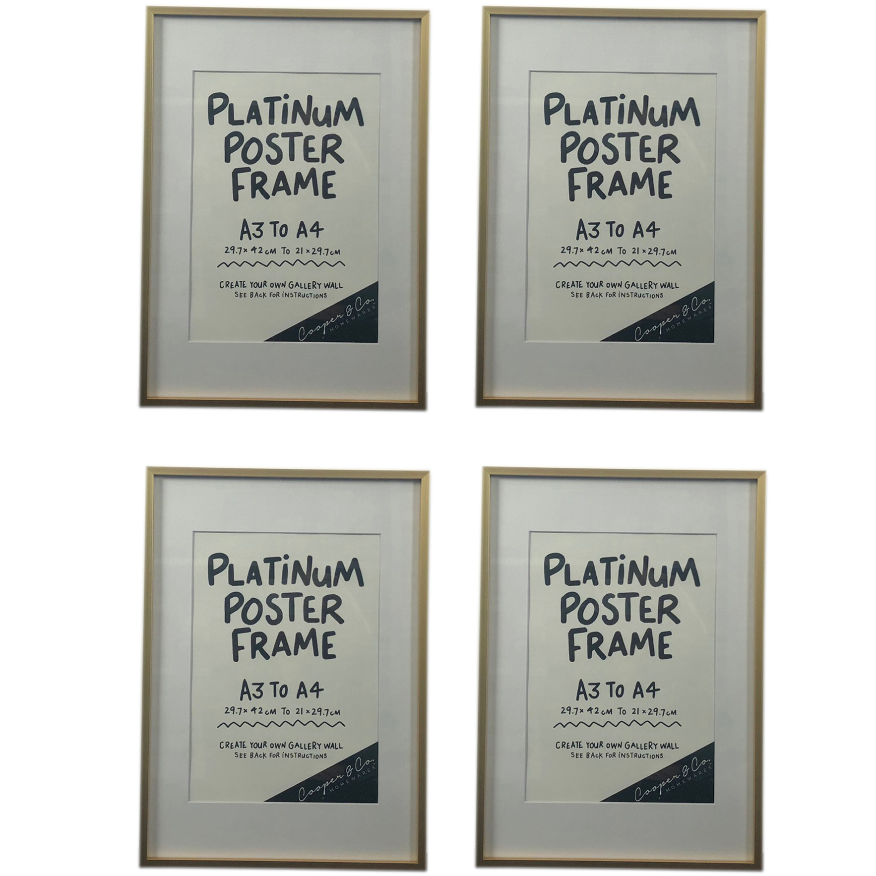 Platinum Metal Poster Frame | Temple & Webster