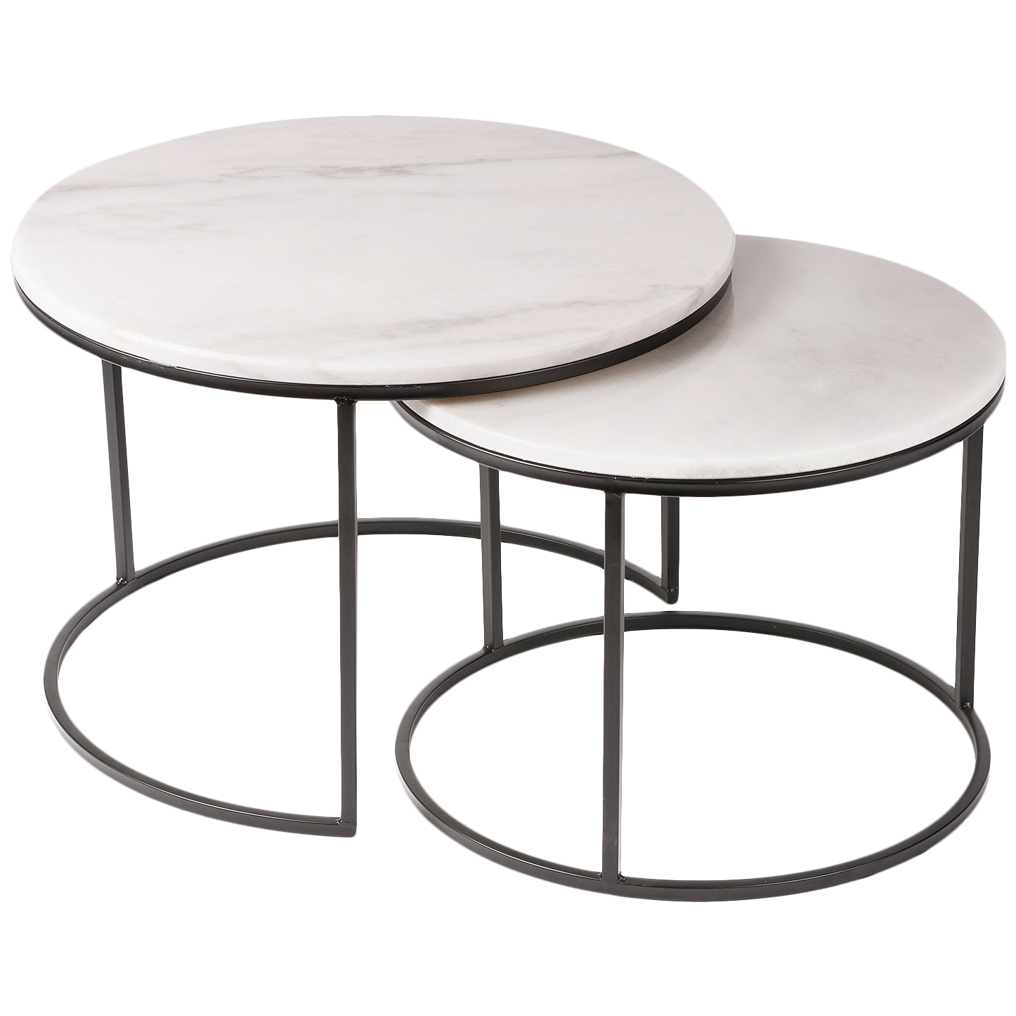 Cooper Cohomewares 2 Piece Cyrilla Marble Top Nesting Side Table Set Reviews Temple Webster