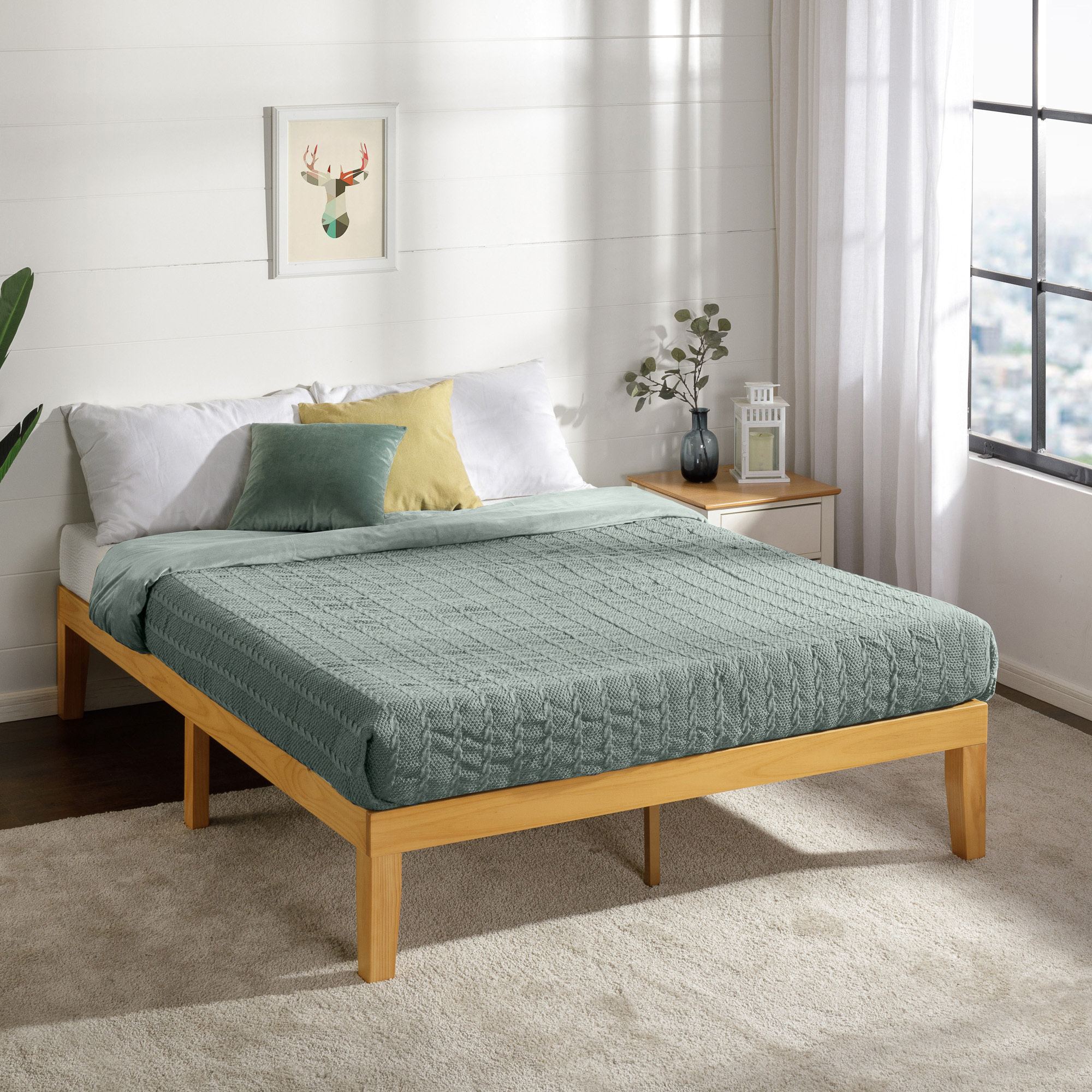 Picture of: Studio Home Natural Belvedere Wooden Bed Base Reviews Temple Webster