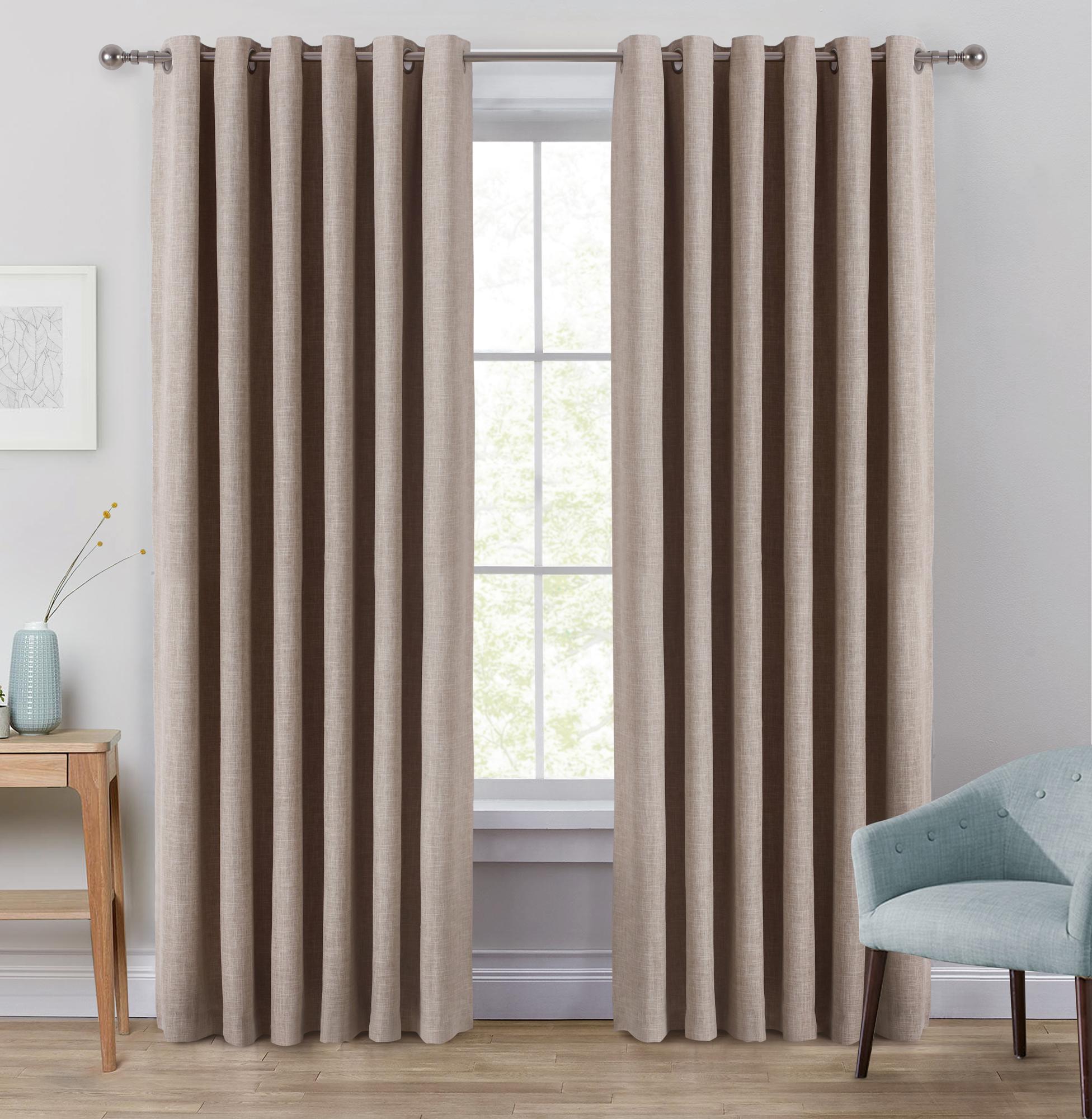 WindowSolutions Linen Portland Eyelet Blockout Curtains & Reviews ...