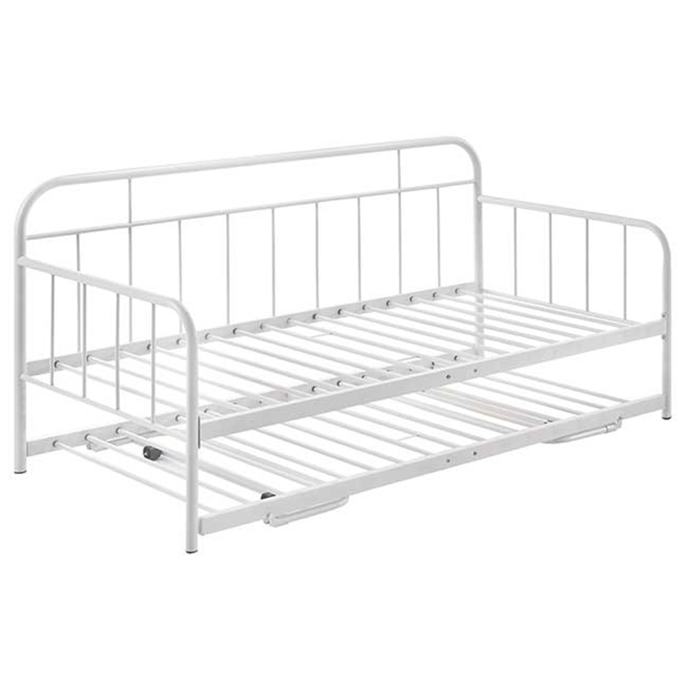 - NordicHouse White Dika Metal Daybed With Trundle & Reviews