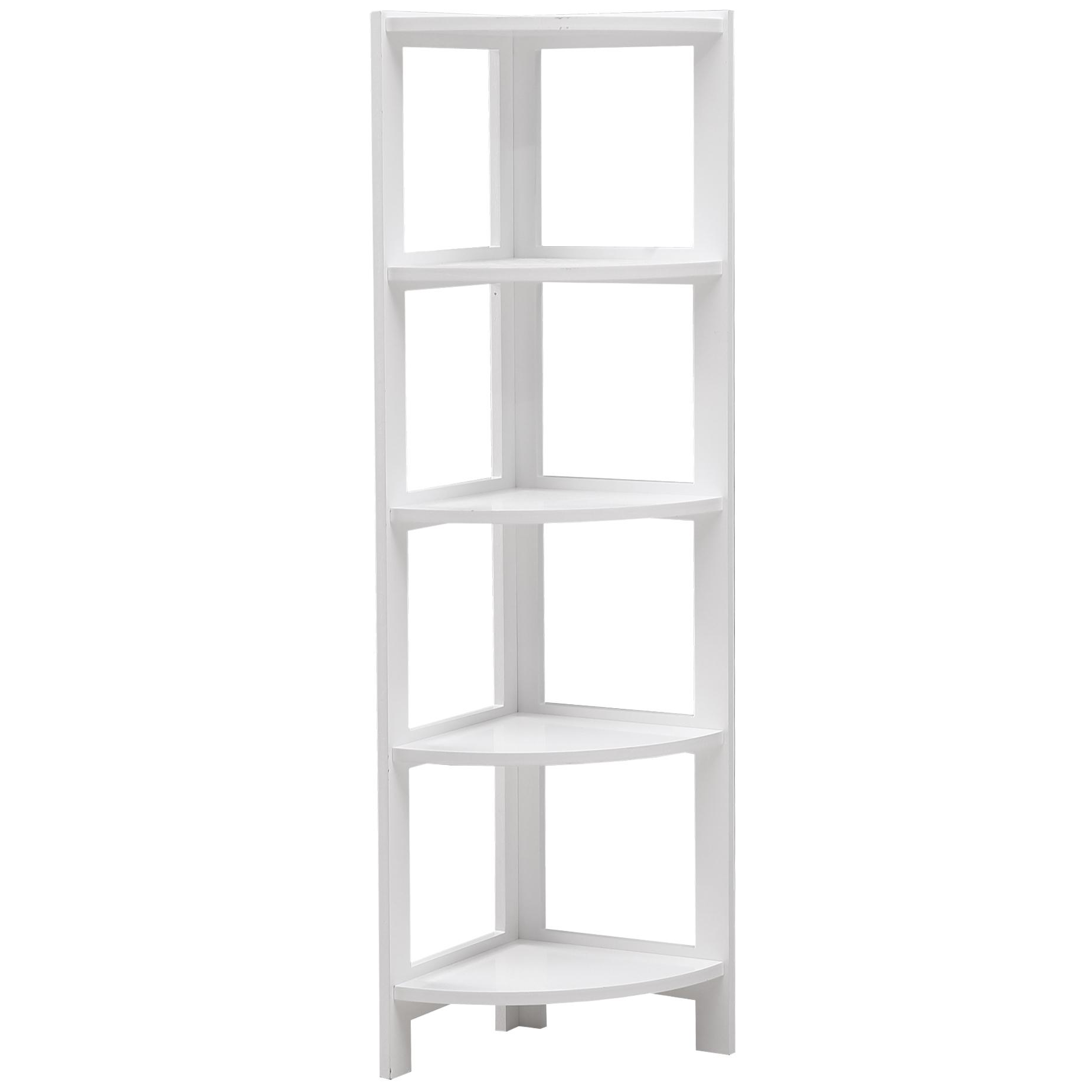 big sale ed871 ea157 White Tim 5 Tier Corner Bookcase