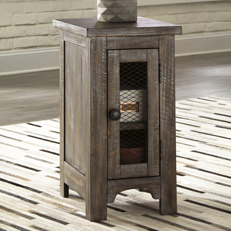 Picture of: Adair Pine Wood Single Door Side Table Temple Webster
