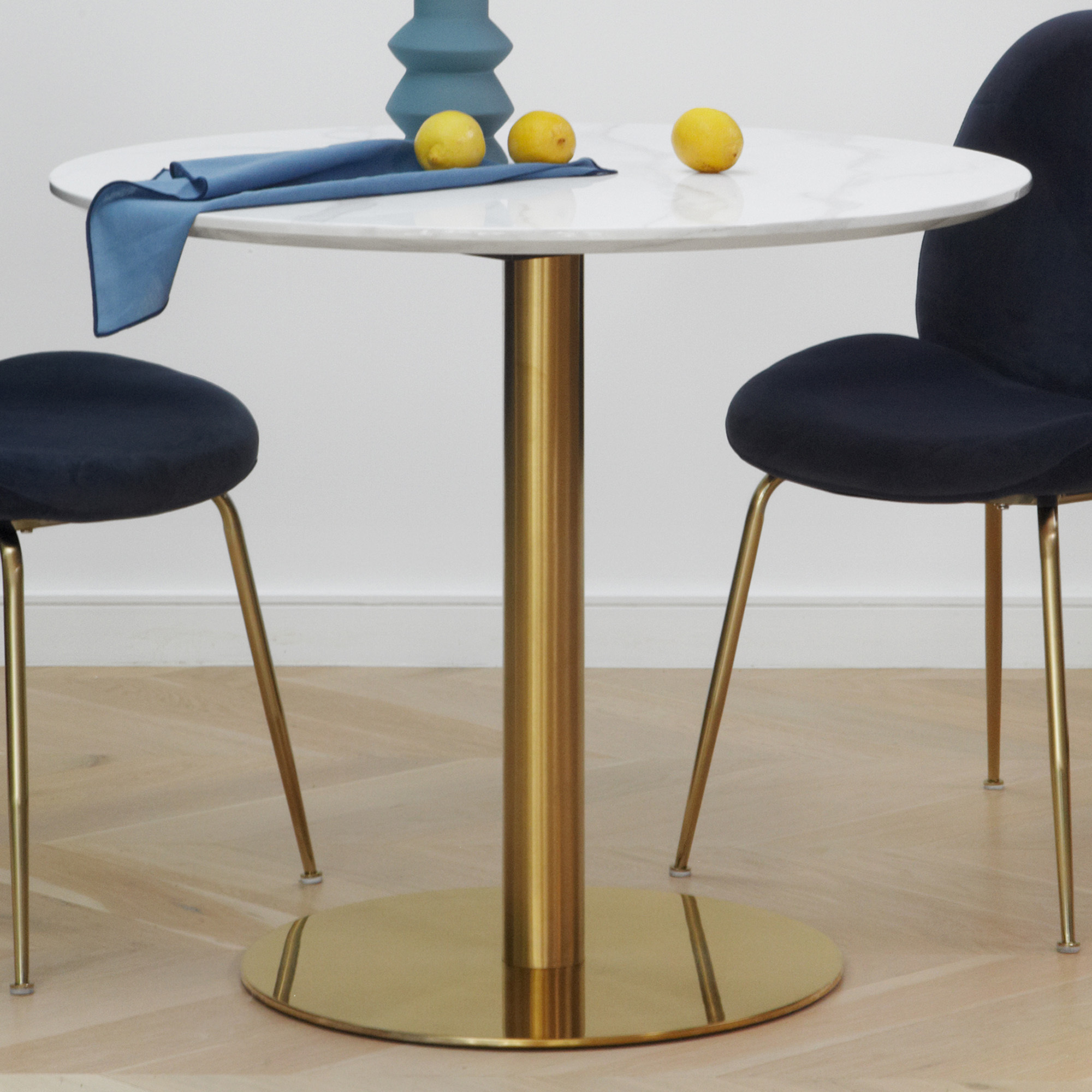 NEW White & Gold Hartley Round Dining Table - Keys Road ...