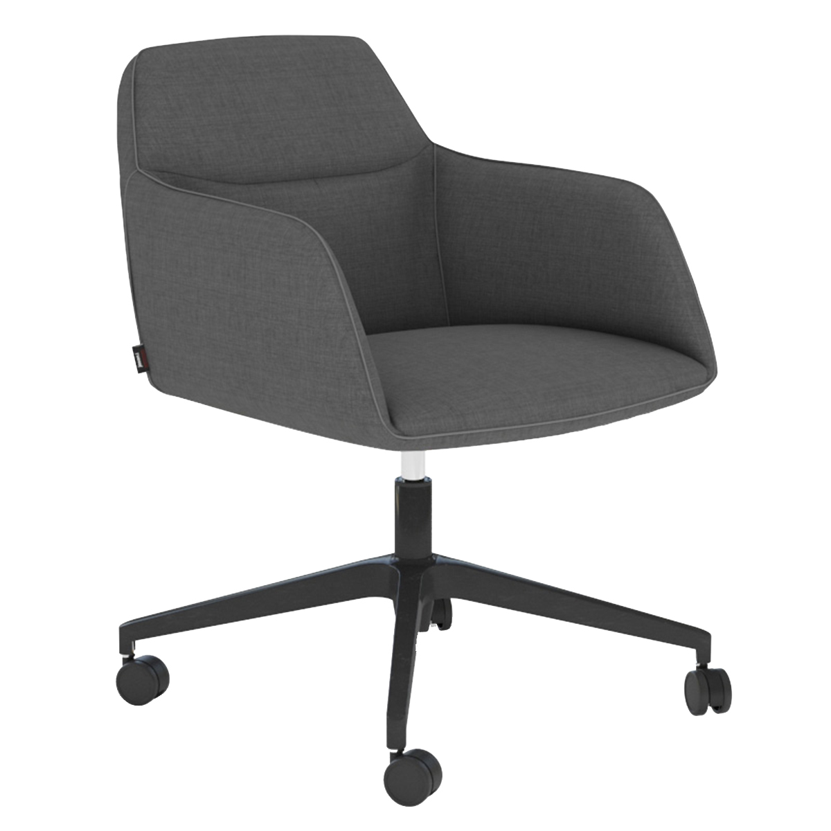 Image of: Haywood Swivel Base Upholstered Office Chair Temple Webster