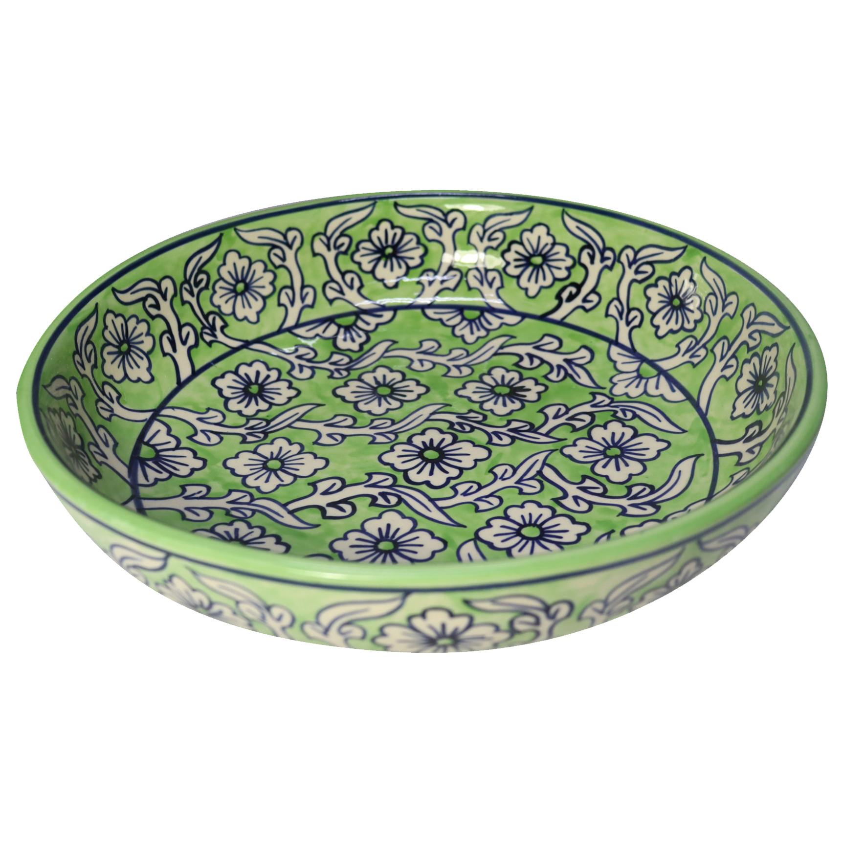 Bohemia Co Lime Ceramic Salad Serving Bowl Temple Webster
