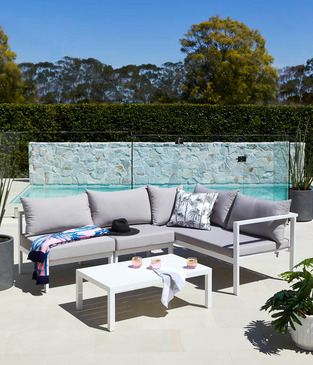 Contemporary outdoor lounge photo by Temple & Webster