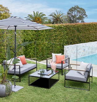Contemporary outdoor living photo by Temple & Webster