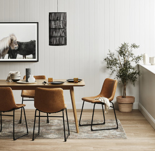 Natural contemporary dining photo by Temple & Webster