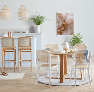 White and bright dining photo by Temple & Webster