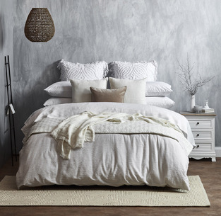Coastal white textured bedroom photo by Temple & Webster