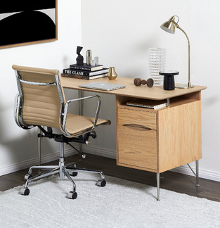 Mid-century office desk nook photo by Temple & Webster