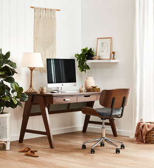Calming Office Nook photo by Temple & Webster