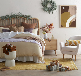 Nature Inspired Plush Retreat photo by Temple & Webster