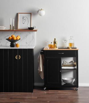Dark & Modern Bachelor Kitchen photo by Temple & Webster