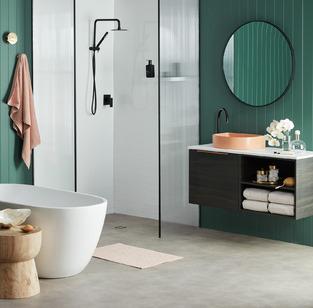 Sleek Easy Clean Bathroom photo by Temple & Webster