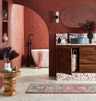 Clay Bathroom Spa Retreat photo by Temple & Webster