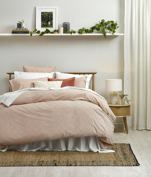 Timber & Pink Hues Bedroom photo by Temple & Webster